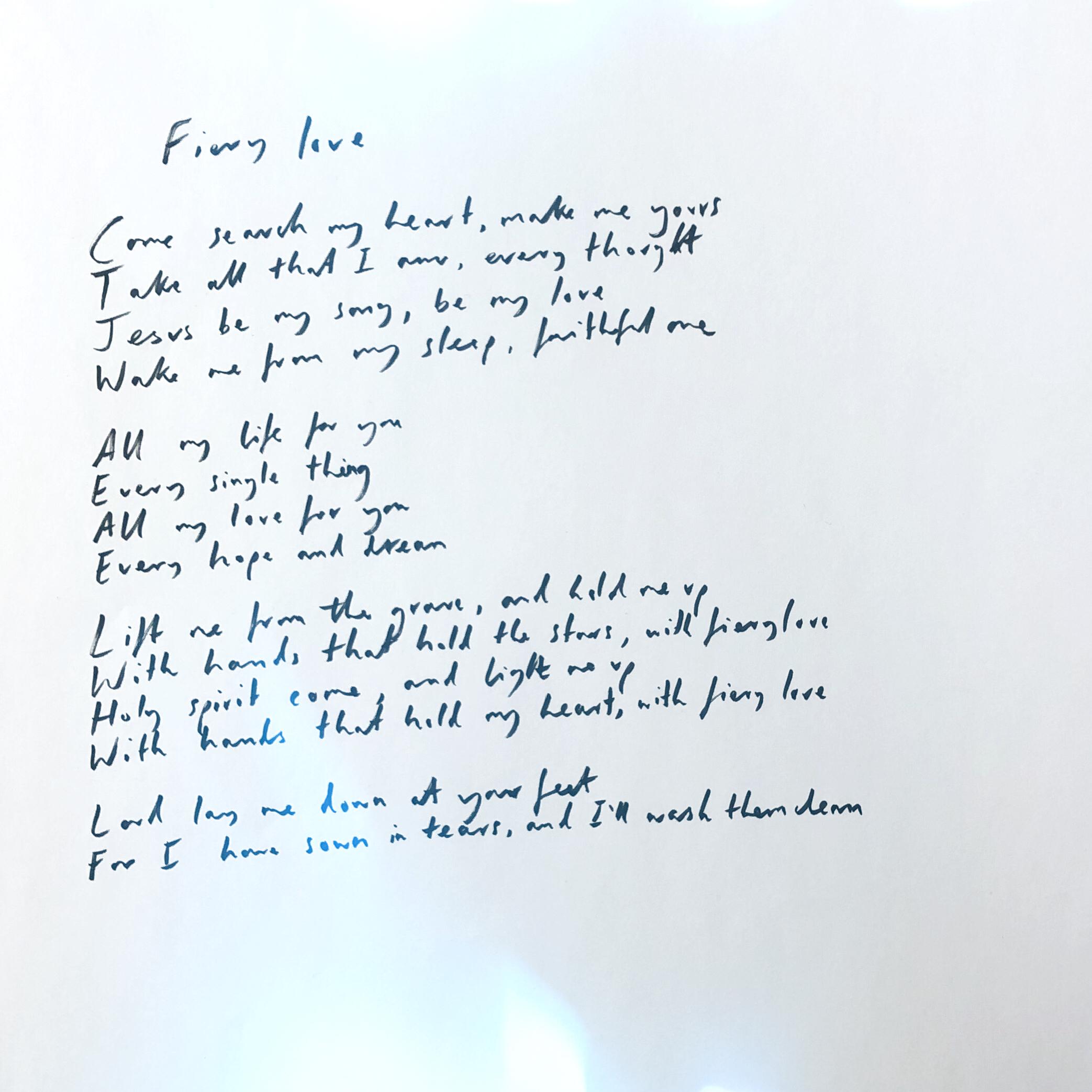Handwritten Fiery Love