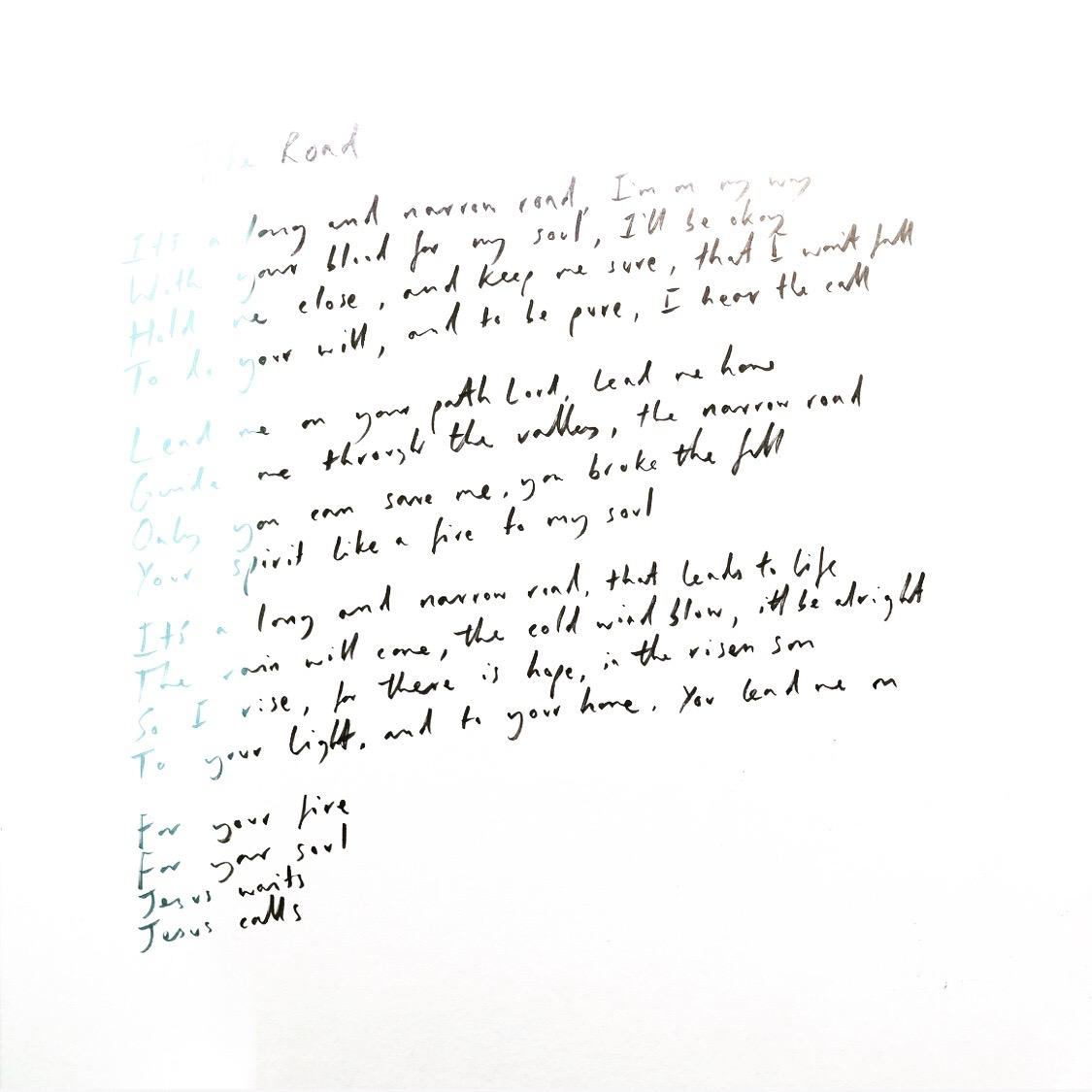 Handwritten The Road.JPG