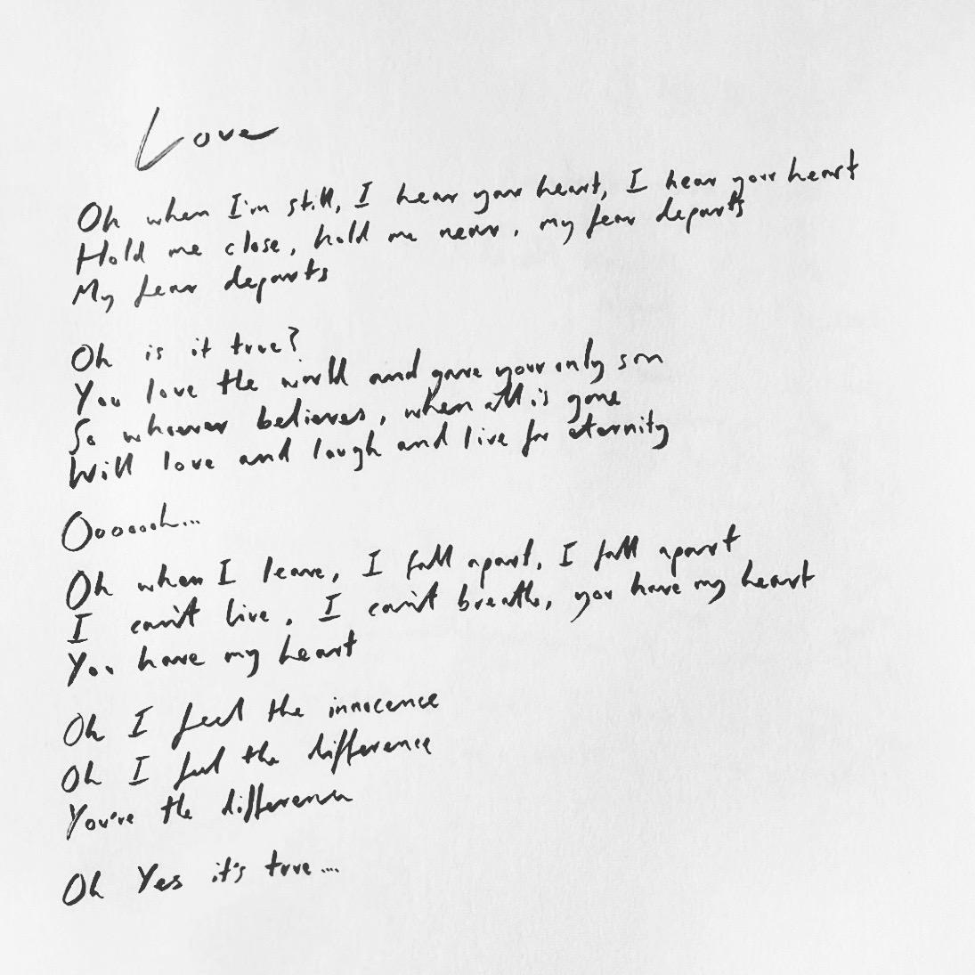 Handwritten Love.JPG