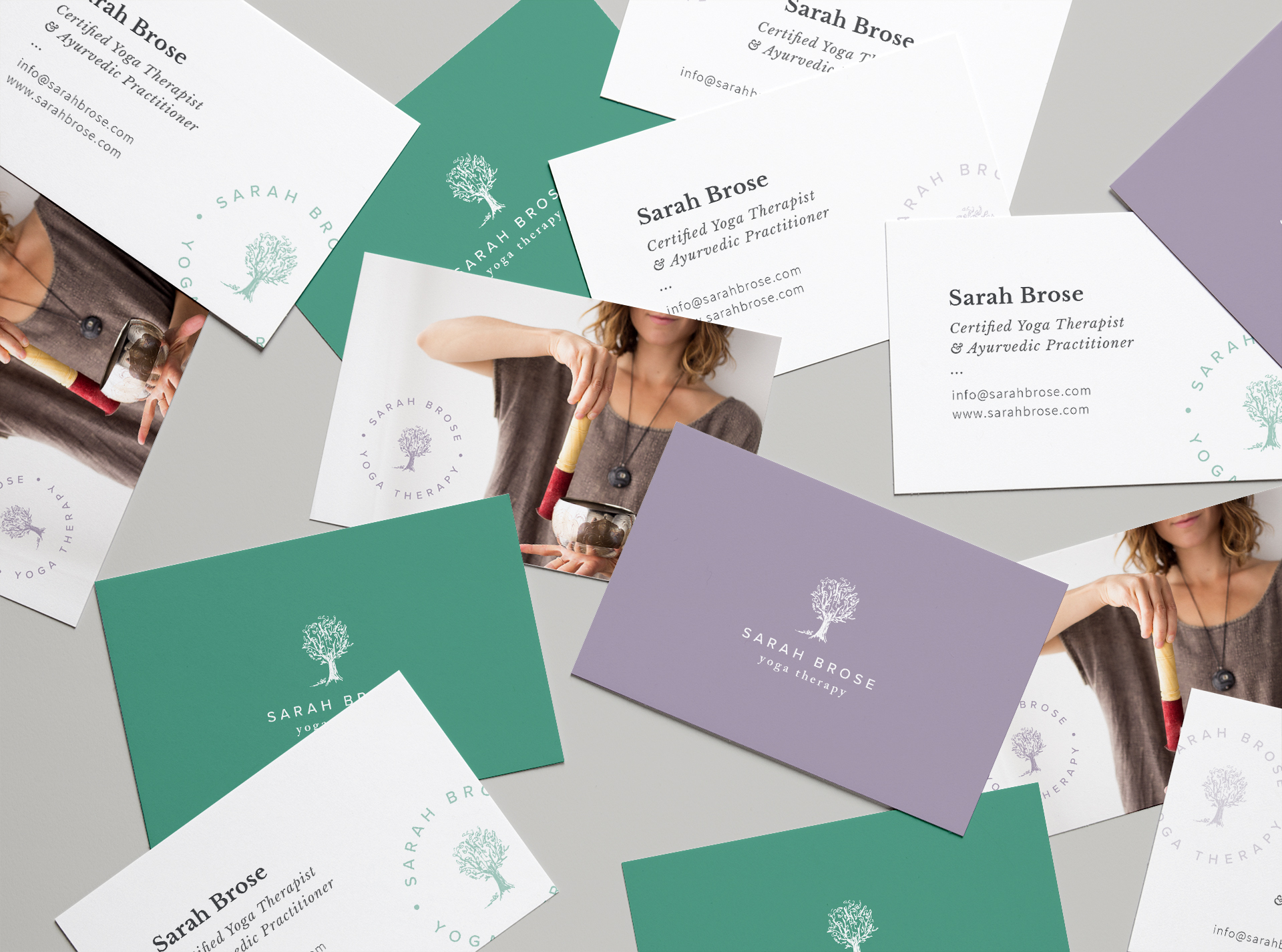 sarah brose yoga therapy business card design