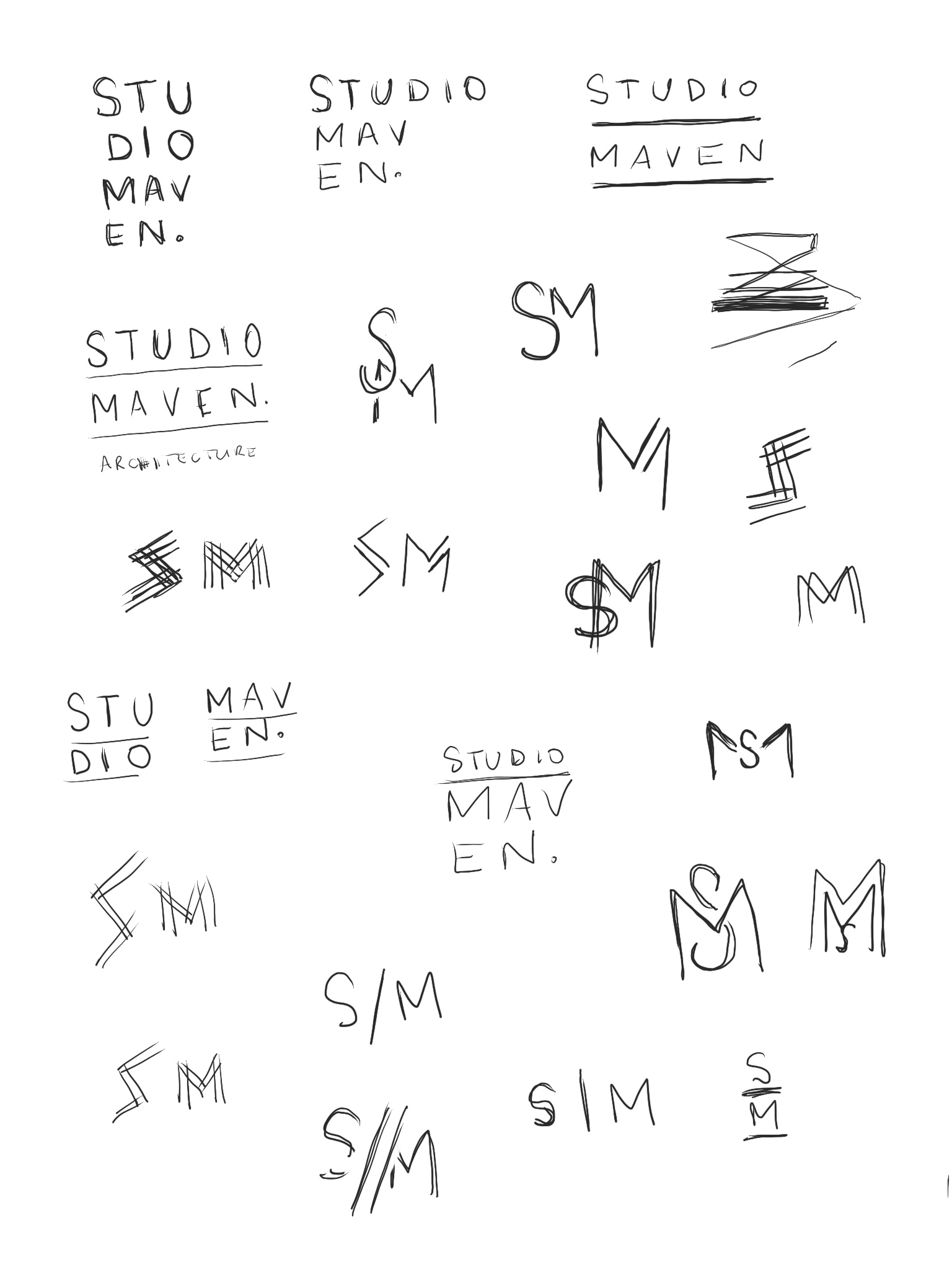 studio maven architecture brand design by Function Creative Co.