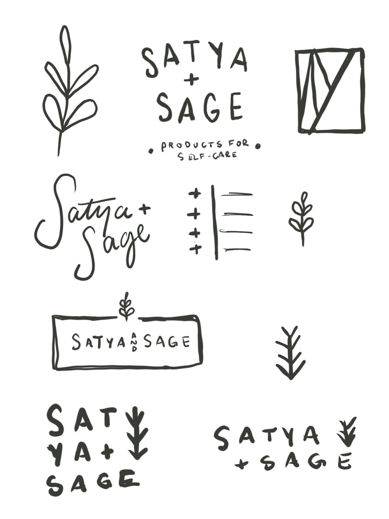 satya + sage brand design packaging design website design by Function Creative Co.