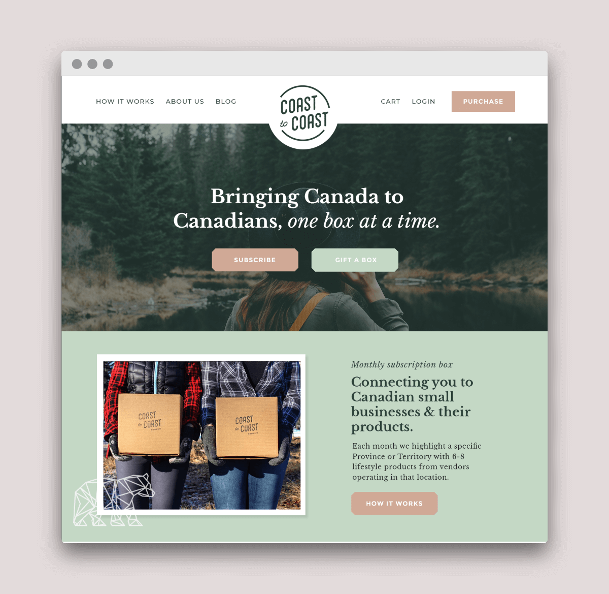 subscription box brand and packaging design by Function Creative Co.