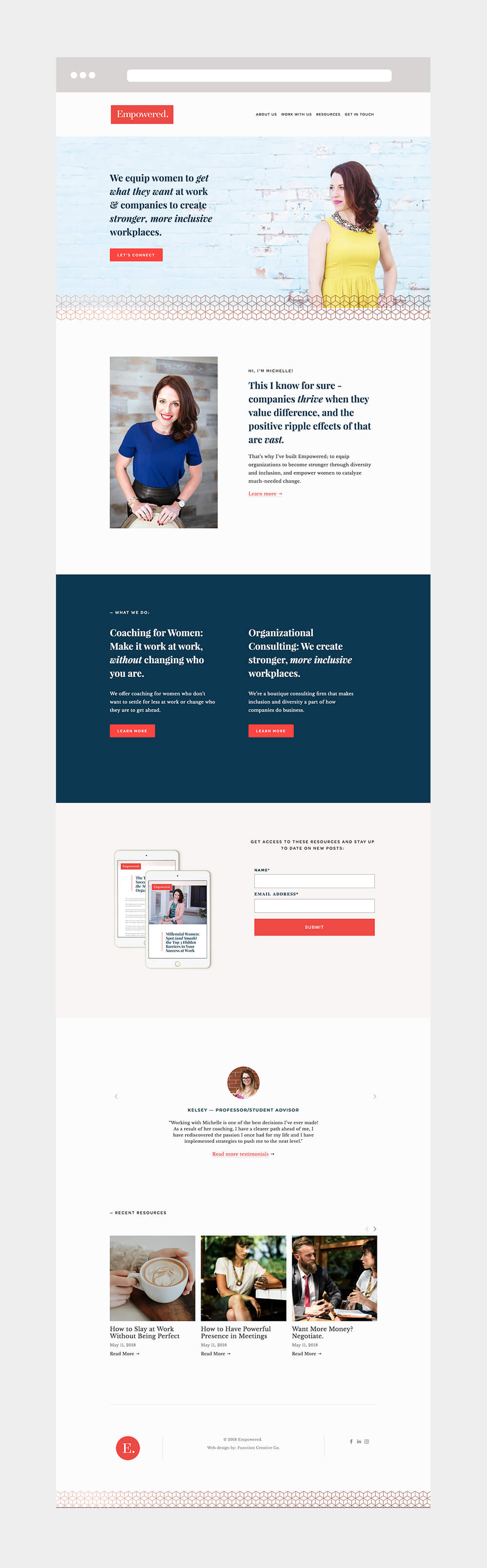 coaching web design by Function Creative Co.