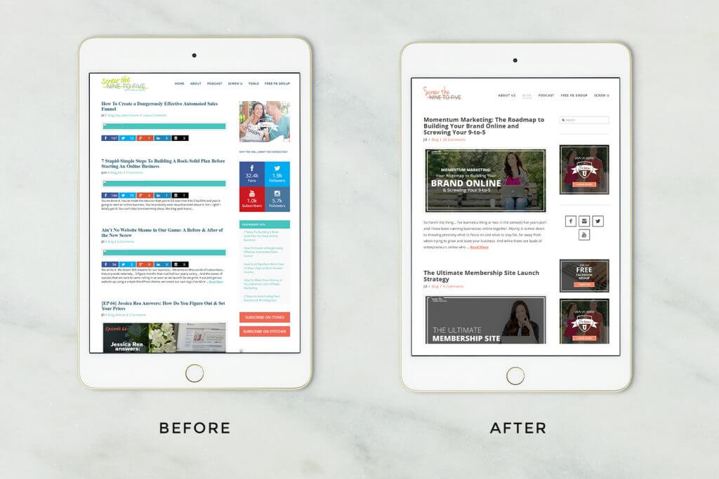screw the nine to five website design by Function Creative Co.