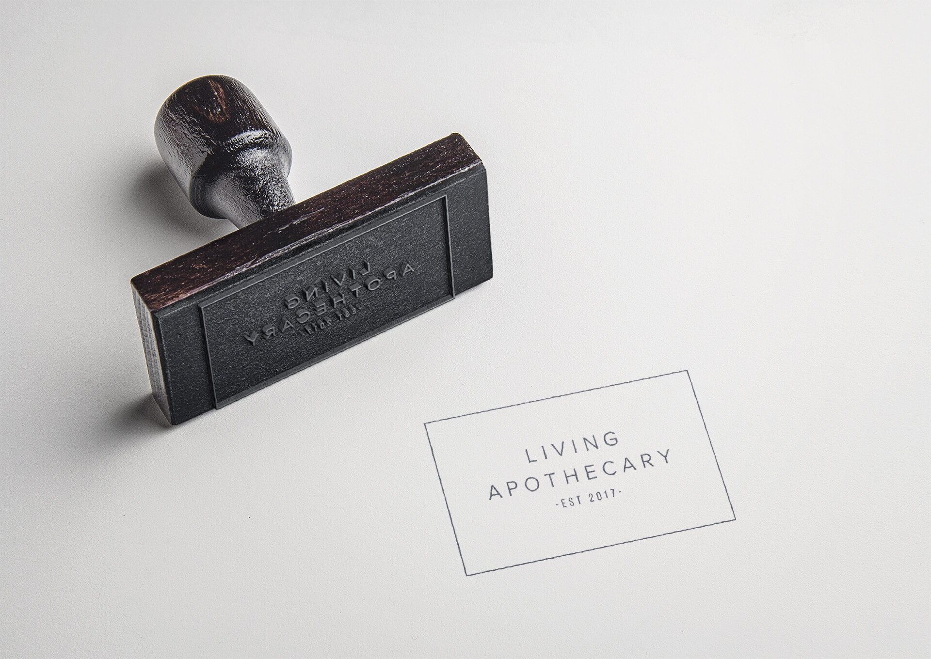 product brand design living apothecary stamp marketing collateral