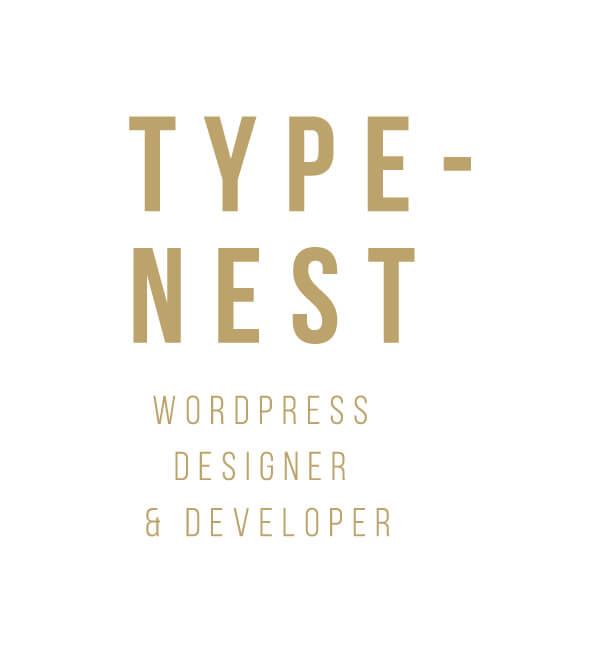 typenest wordpress developer logo design