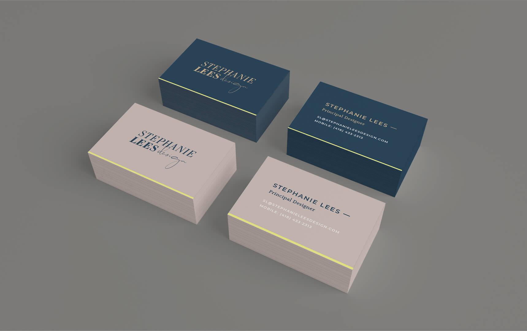 stephanie lees design interior design business cards