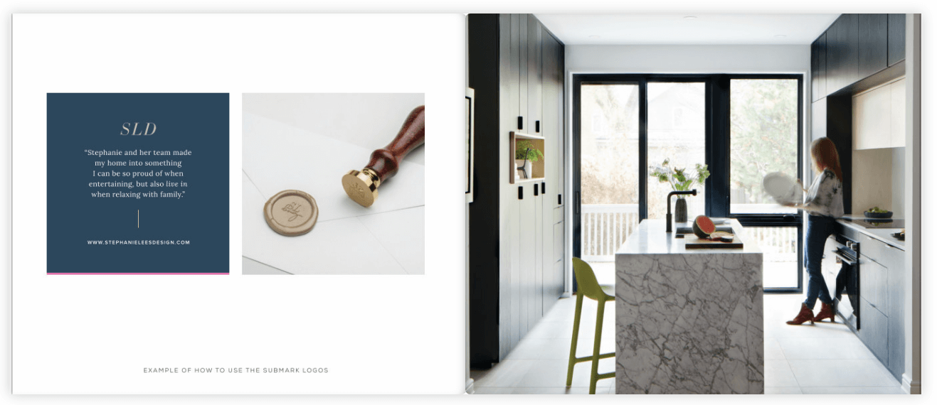 stephanie lees design interior design brand style guide