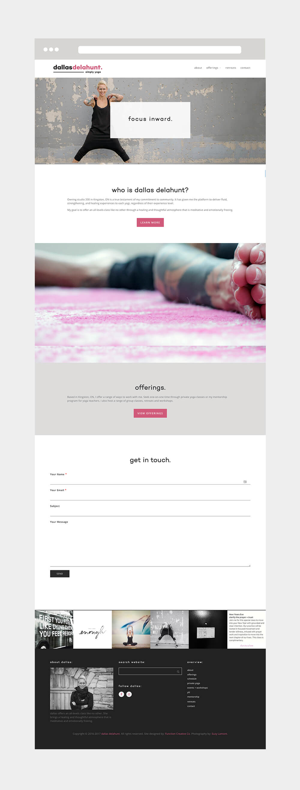dallas delahunt yoga brand design web design