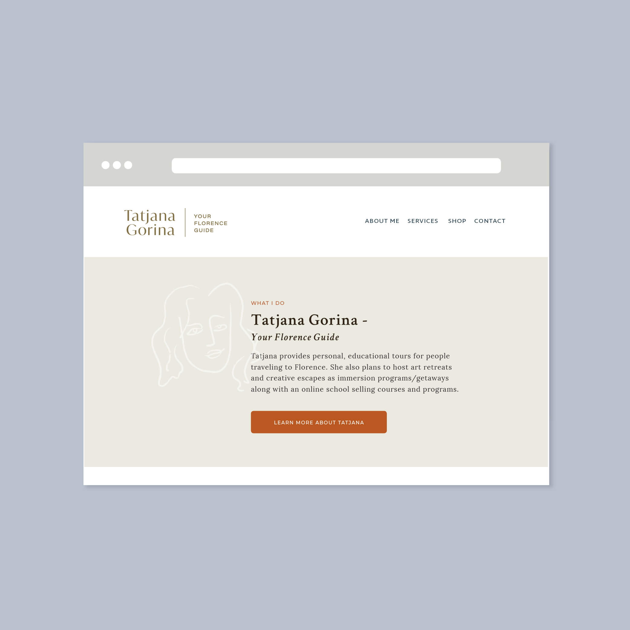 tatjana gorina your florence guide logo brand design