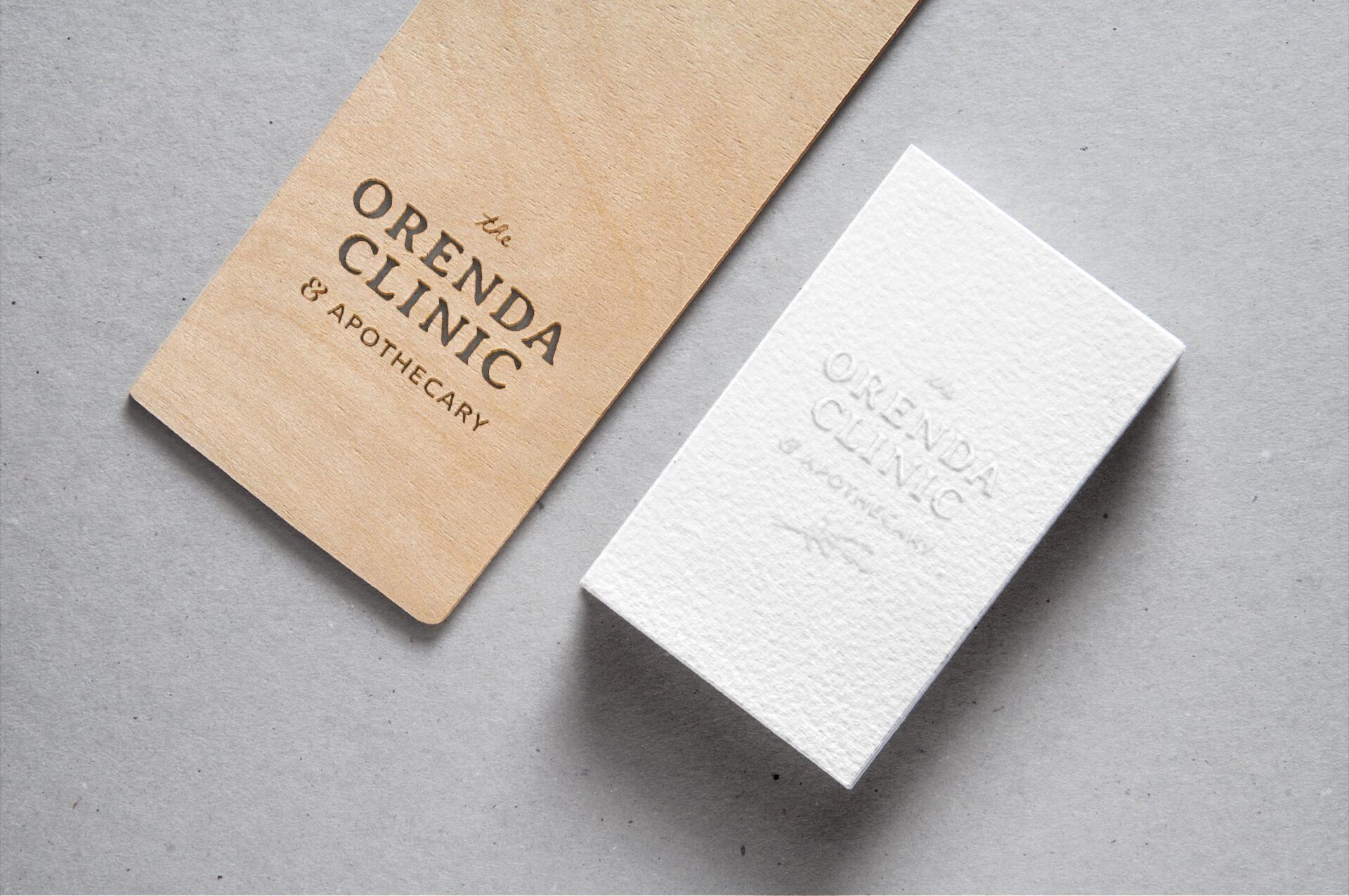 orenda clinic apothecary brand identity marketing materials