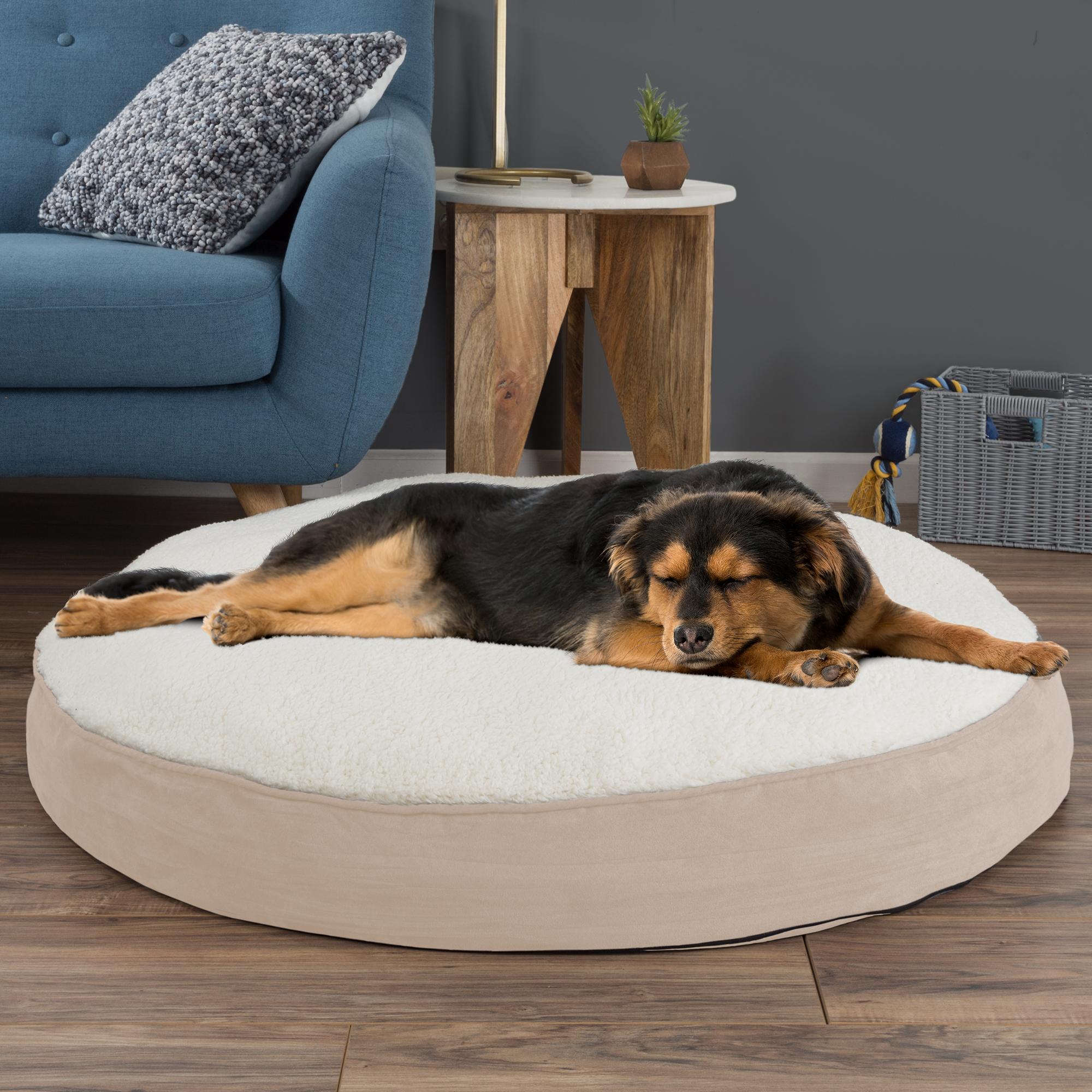 Round Memory Foam Bed