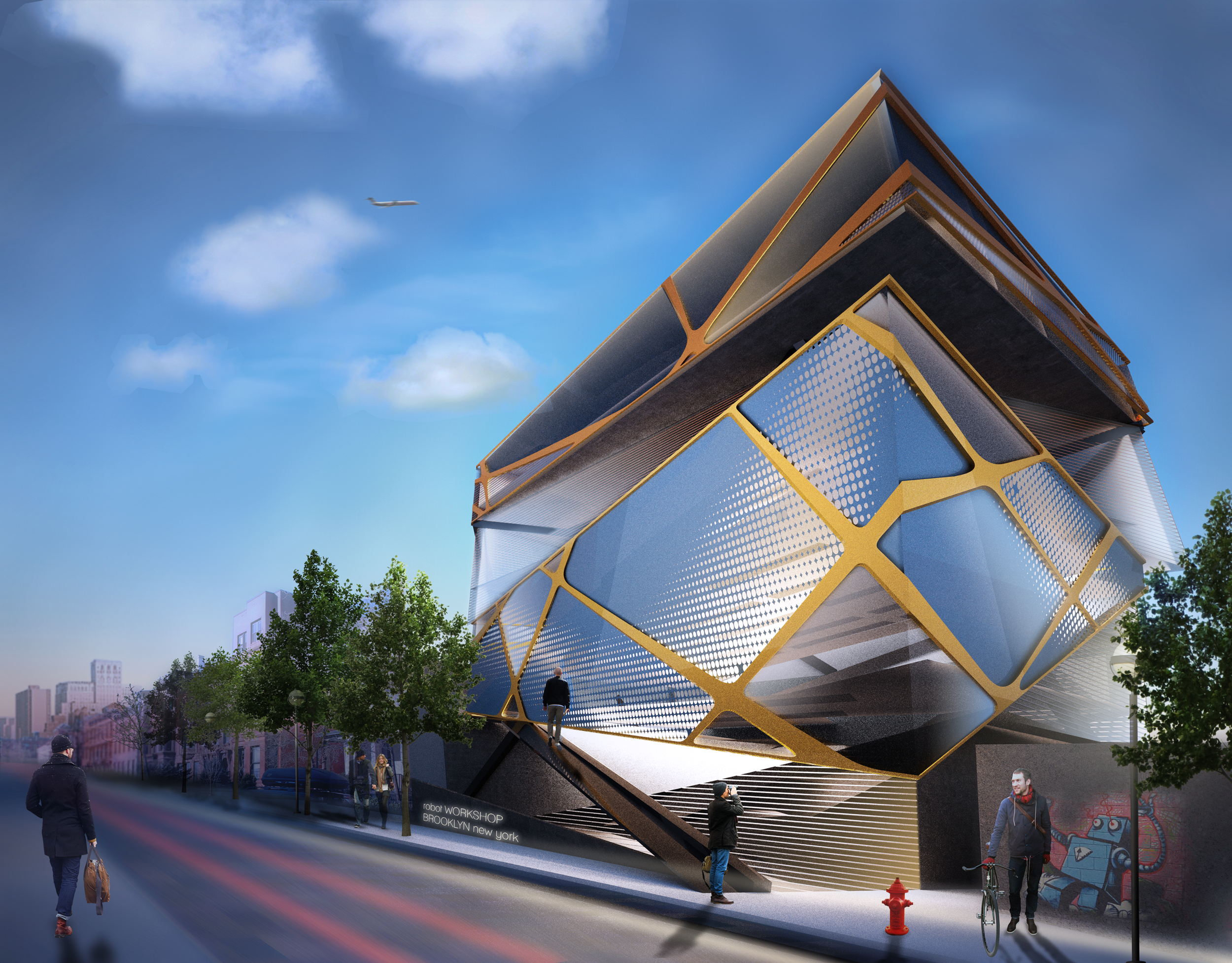 Brooklyn Robotics Center - an architectural competitionSuckerPunch, 2012, in collaboration with Michael Haas