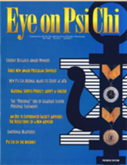 The first issue of Eye on Psi Chi