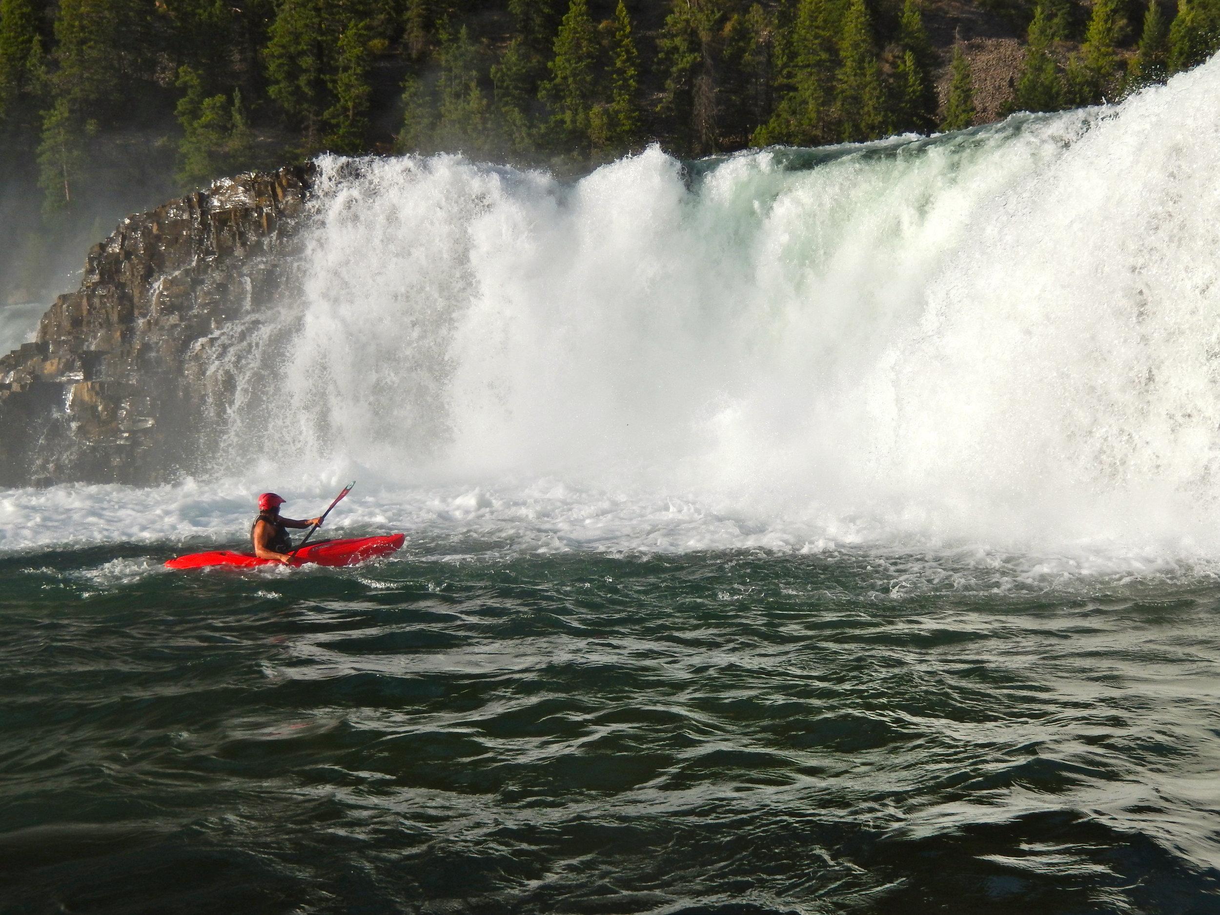 Far right side of Kootenai Falls