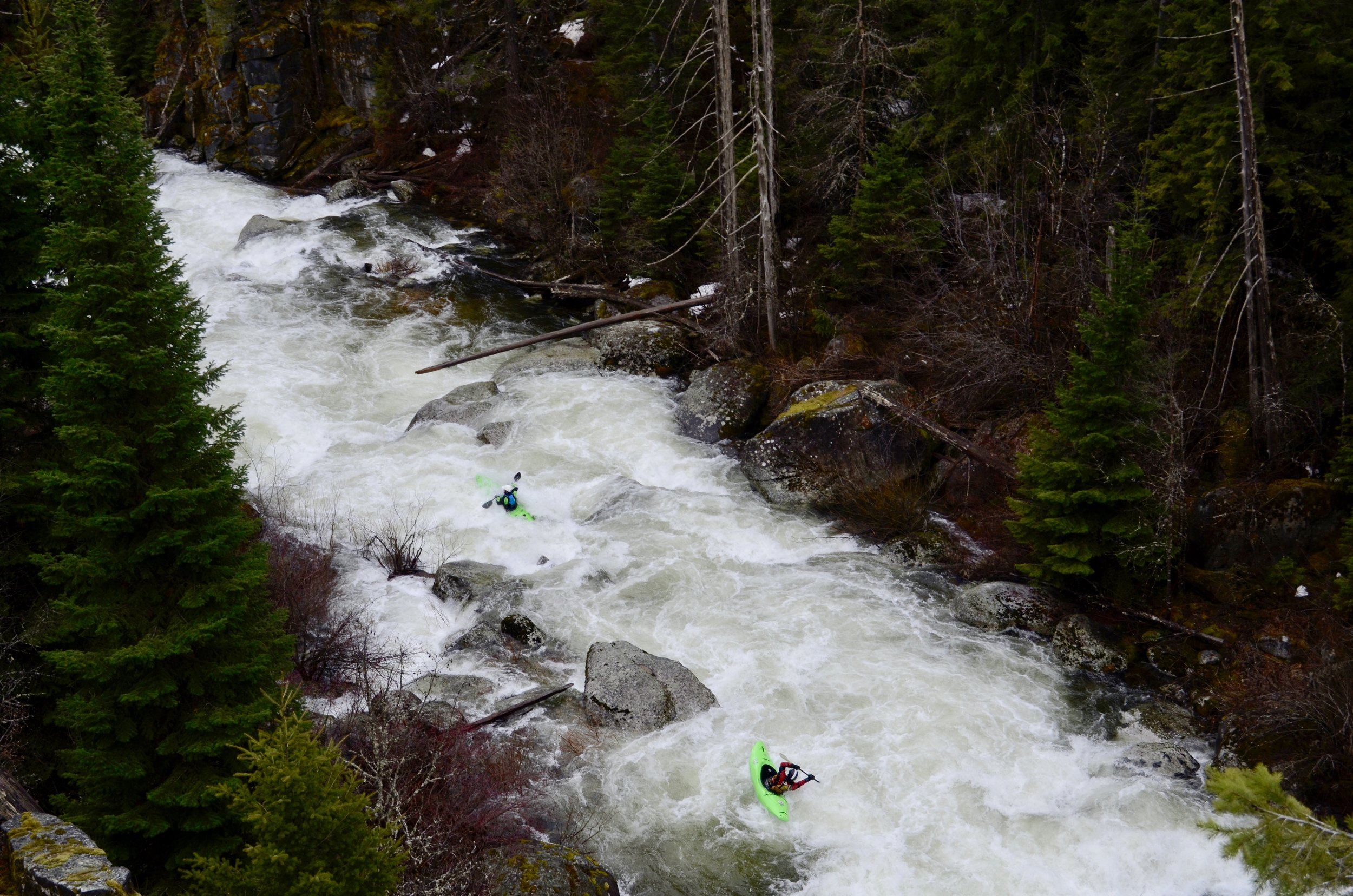 Photo of some kayakers on the fish creek trail. Taken about 2 miles past the trailhead.