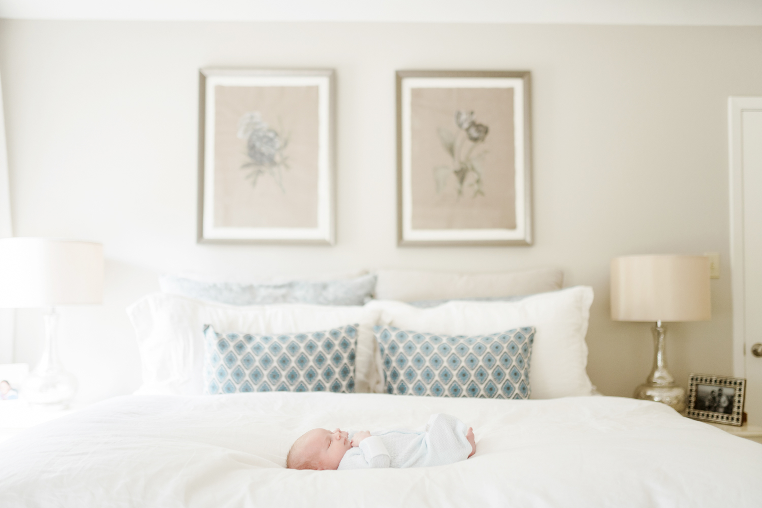 light and airy newborn session in austin texas