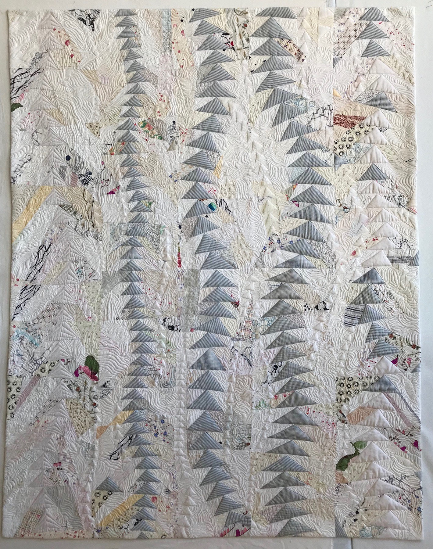"1st Place: FREE MOTION  54"" x 68"" Pieced and quilted by Mary Keasler Chattanooga MQG, Chattanooga, TN"