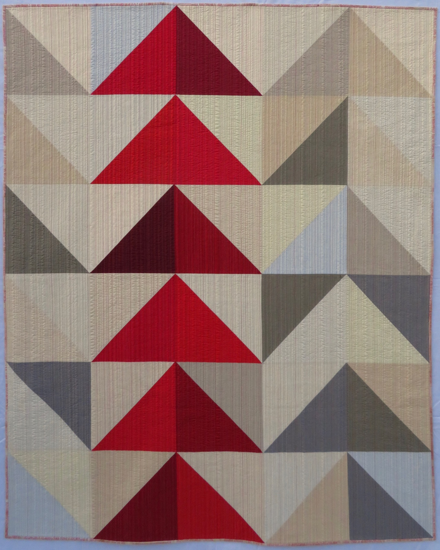 "2nd   Place: Northern Obsession  56"" x 70"" Pieced and quilted by Christine Perrigo Denver Metro MQG, Erie, CO"
