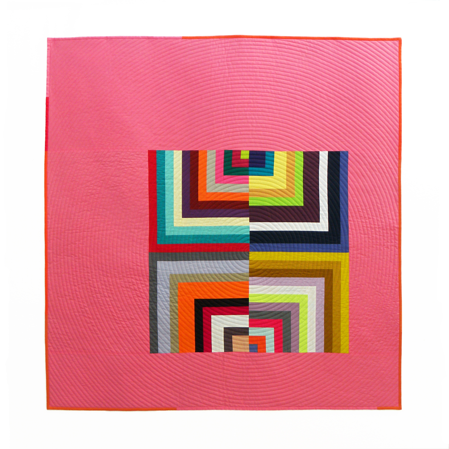 "3rd   Place: Lollipop  44.5"" x 45"" Pieced and quilted by Diana Vandeyar Individual member, Oakton,  Virginia"