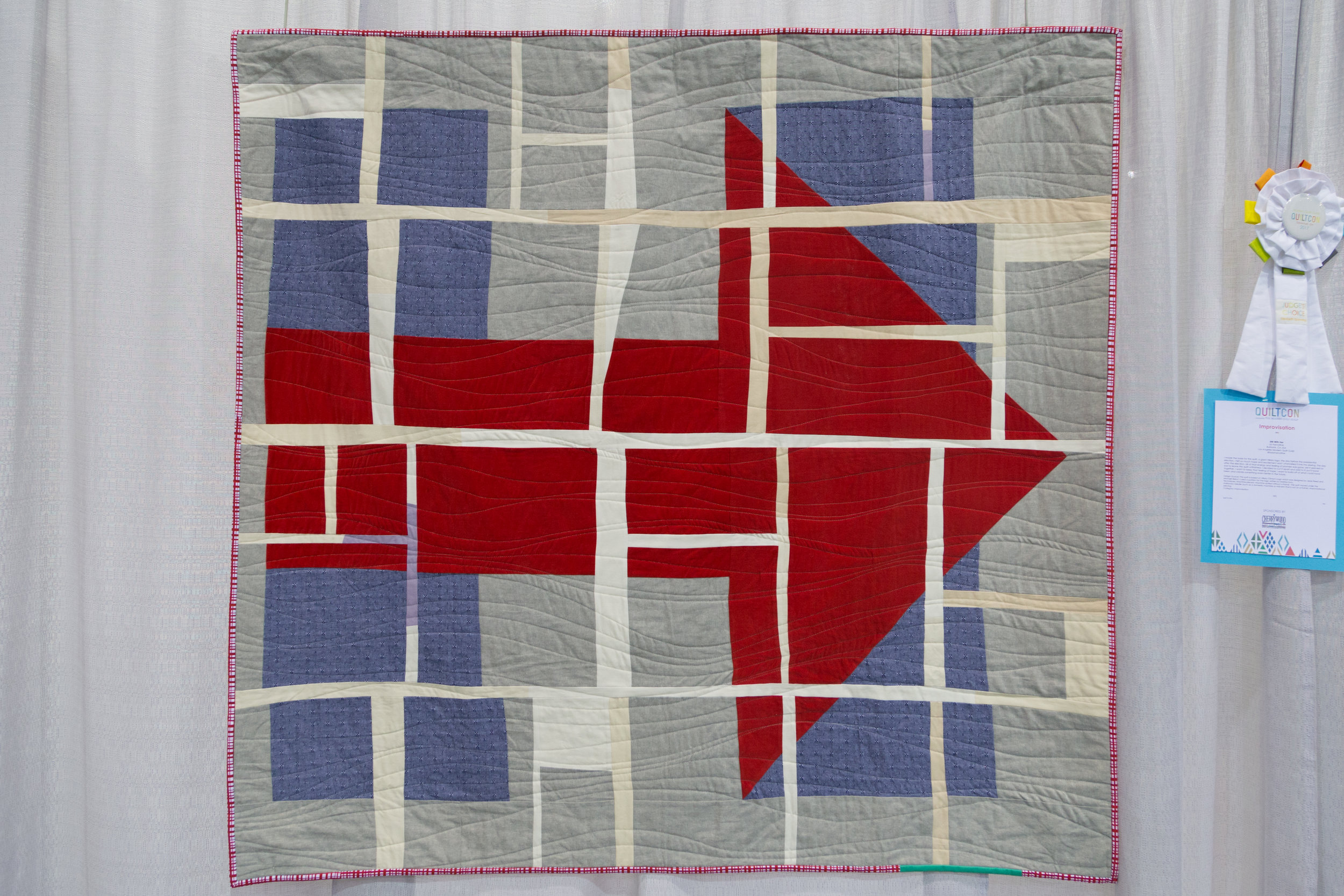 "Still With Her  60"" x 55"" Pieced and quilted by Liz Harvatine Burbank, CA, United States Los Angeles Modern Quilt Guild"