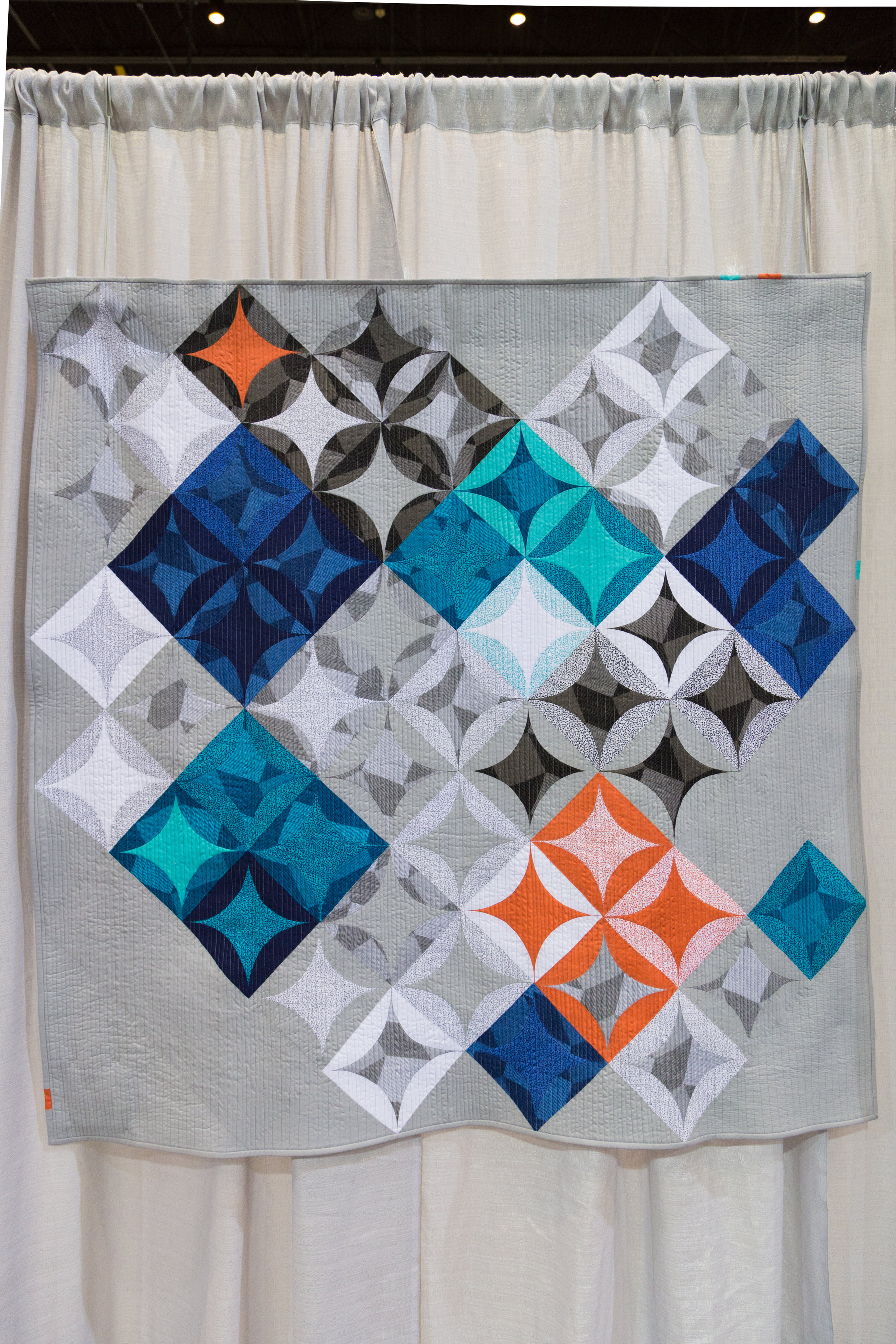 "1st Place: Luxe Modern  59"" x 62"" Pieced and quilted by Susan Clay Santa Fe, New Mexico, United States Individual MQG Member"