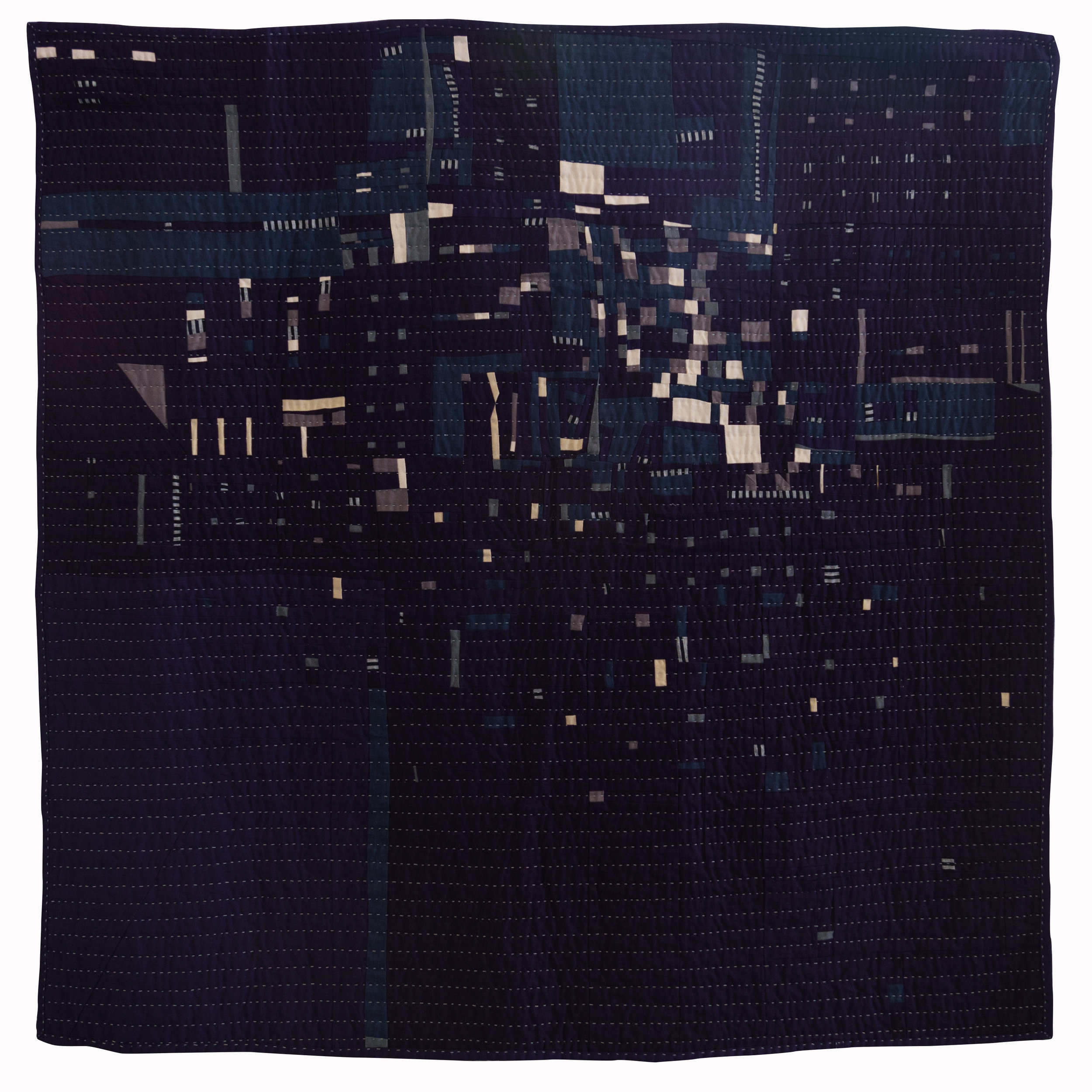 "2nd Place: Night Flight no. 1  58"" x 58"" Pieced & quilted by Heidi Parkes Individual Member"