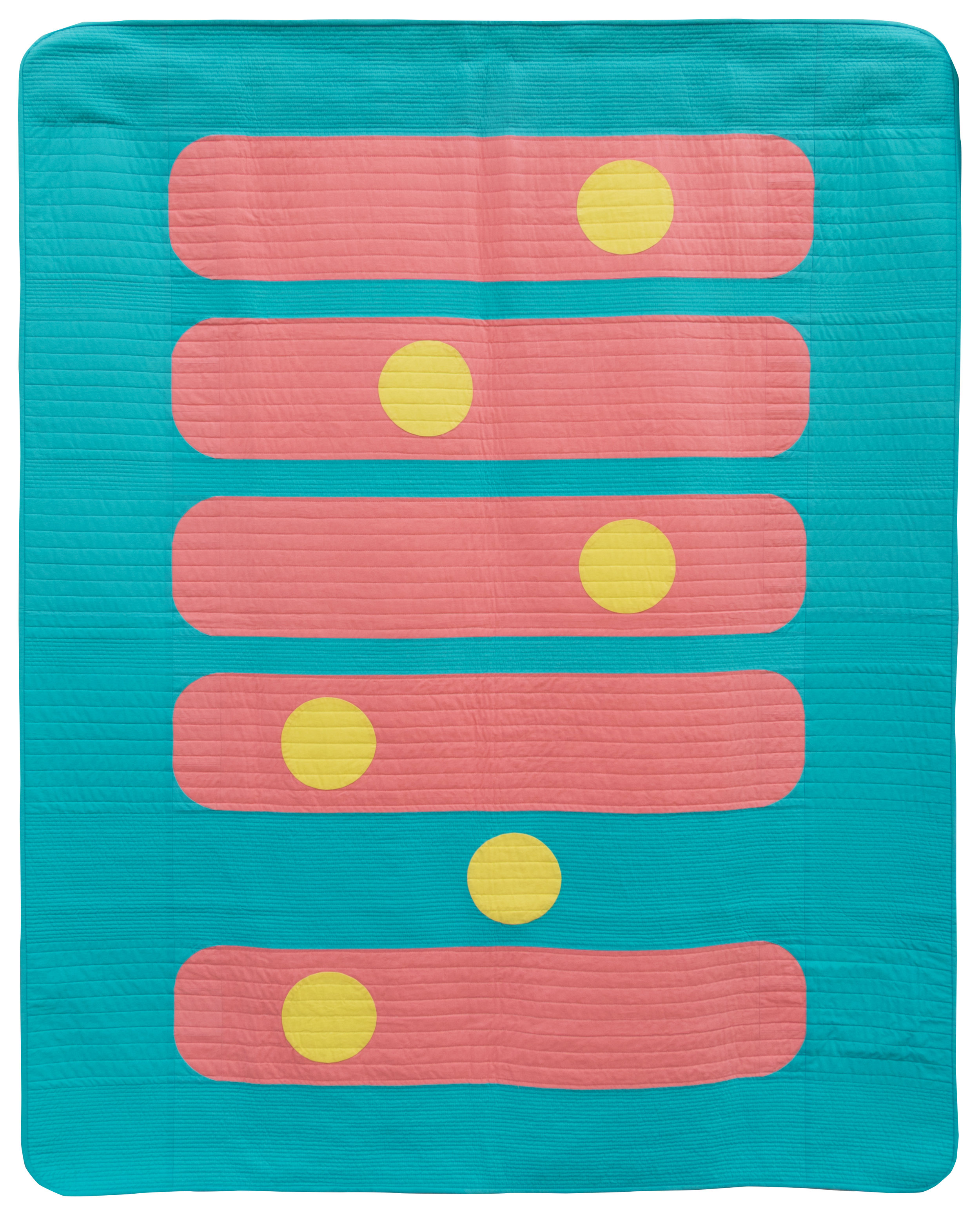 "1st Place: Bubble Gum  58"" x 72"" Pieced & quilted by Margaret (Kathy) Greer Bainbridge Island MQG"