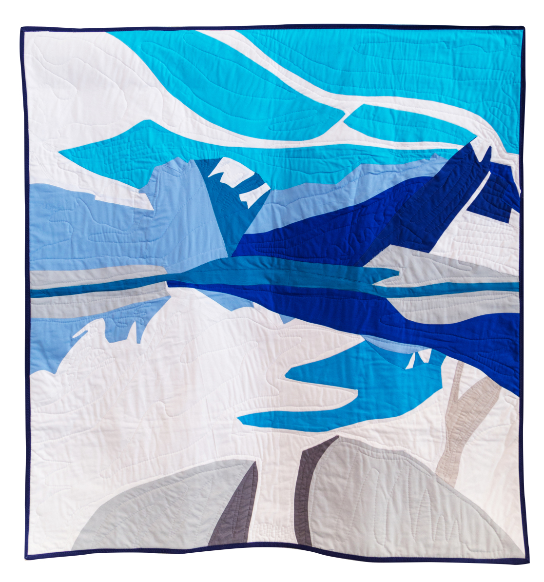 "3rd Place: Modern Harris  41"" x 43"" Pieced & quilted by Alexus Upitis Calgary MQG"
