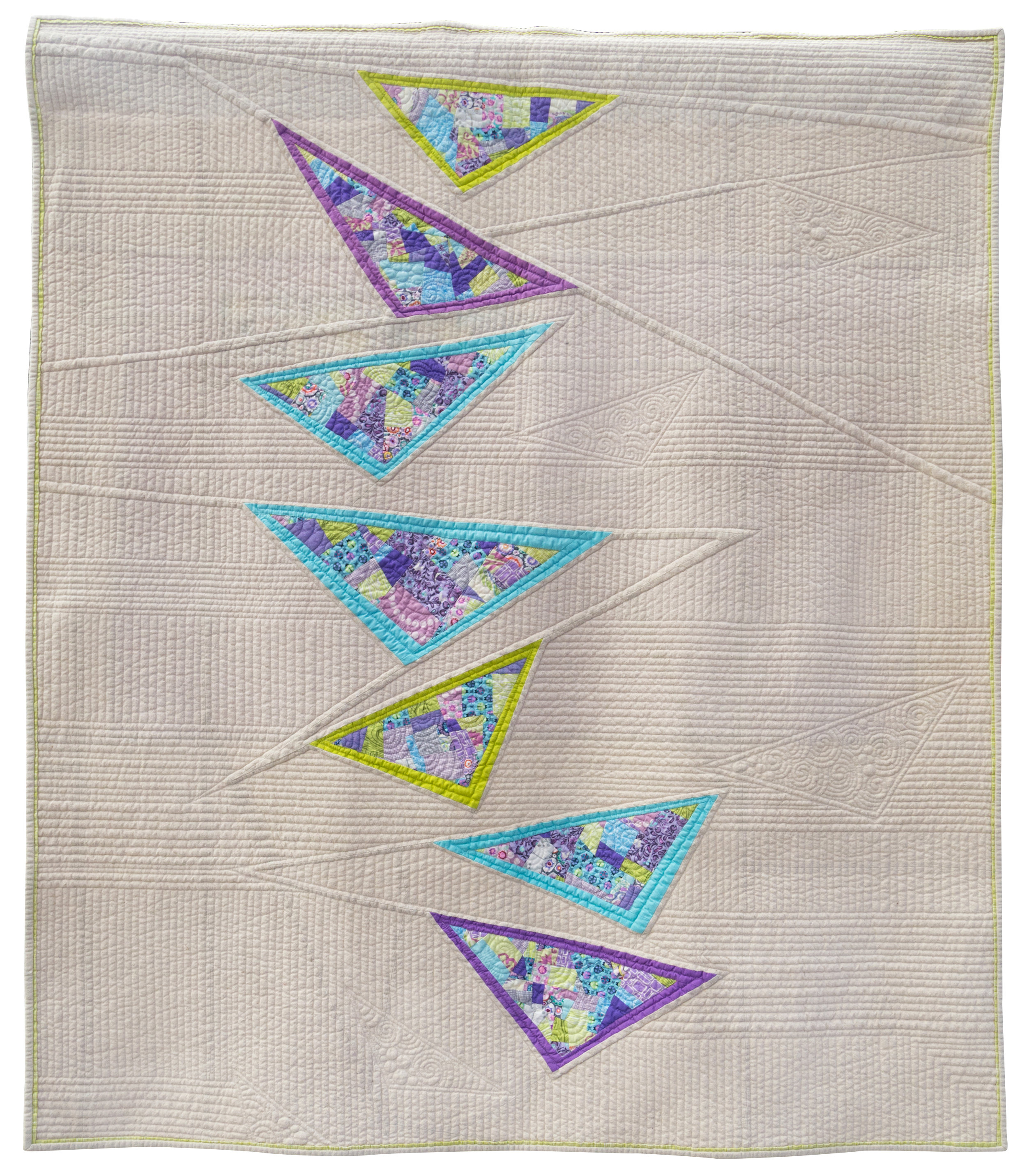 """Diving Geese   44"""" x 50"""" Pieced by Katie Pedersen Quilted by Krista Withers Seattle, Washington Seattle MQG"""