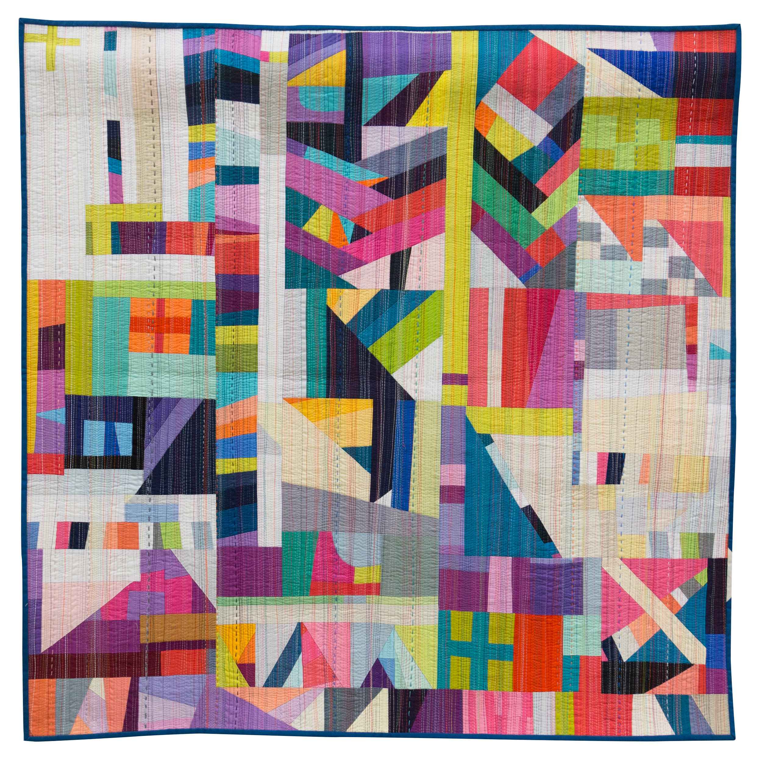 """1st Place: The Rabbit Hole  40"""" x 40"""" Pieced & Quilted by Nydia Kehnle Monroe, New York Individual MQG Member"""