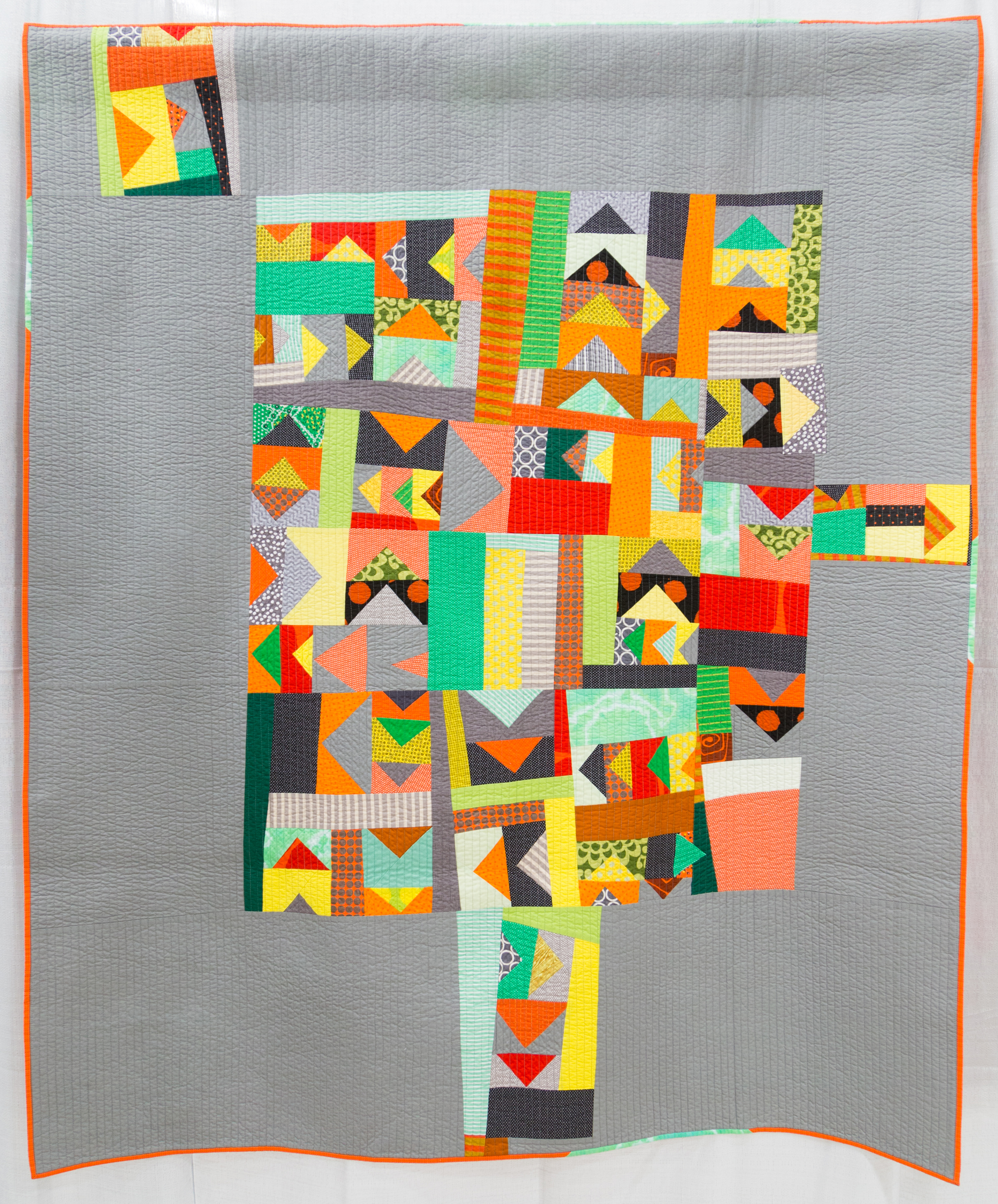 """3rd Place: This Way  57"""" x 67"""" Pieced & Quilted by: Tricia Royal Chicago, Illinois Chicago MQG"""