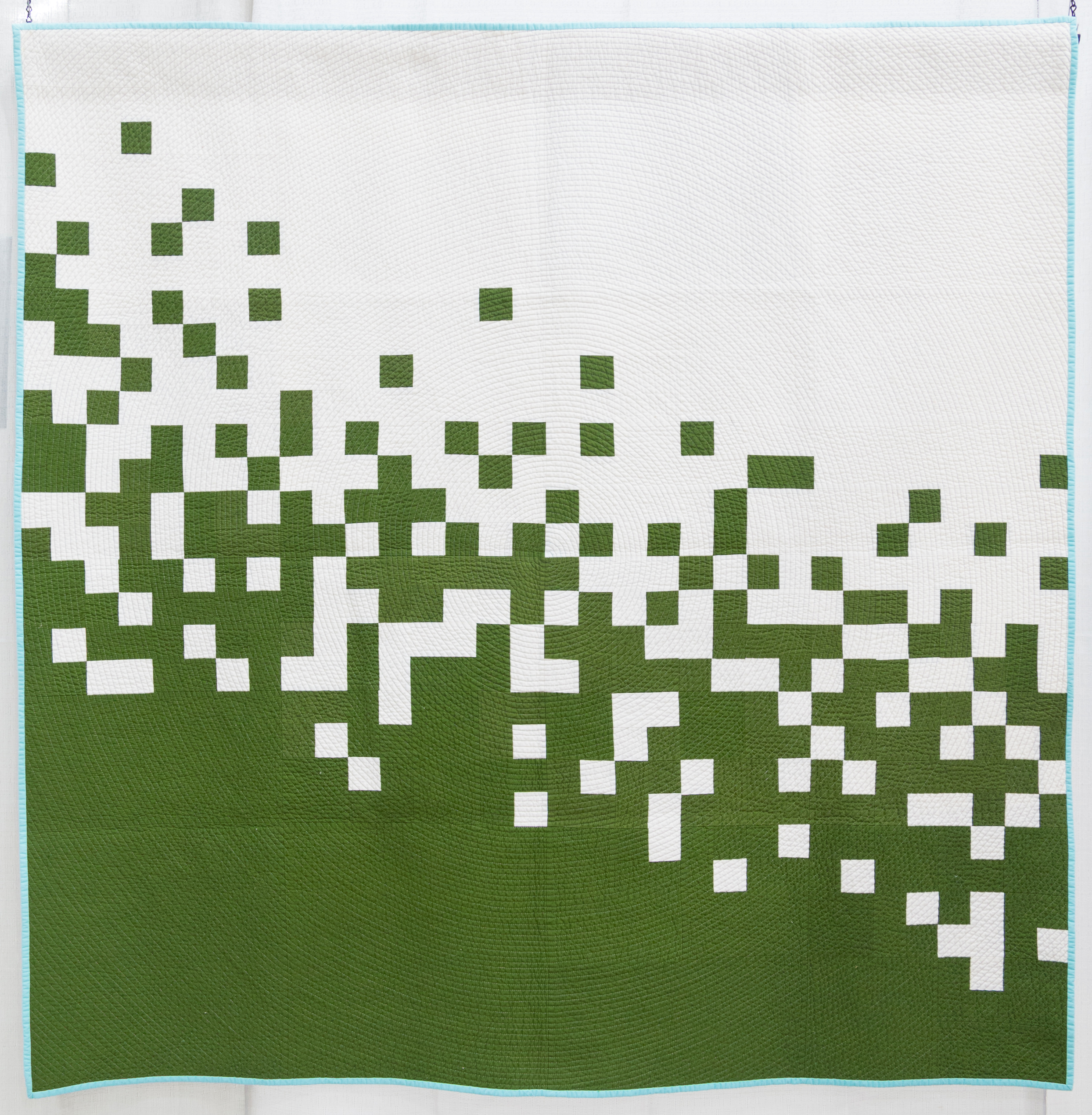 "3rd Place: Pixel Pusher II  64"" x 64"" Pieced & Quilted by: Caro Sheridan Everett, Massachusetts Boston MQG"