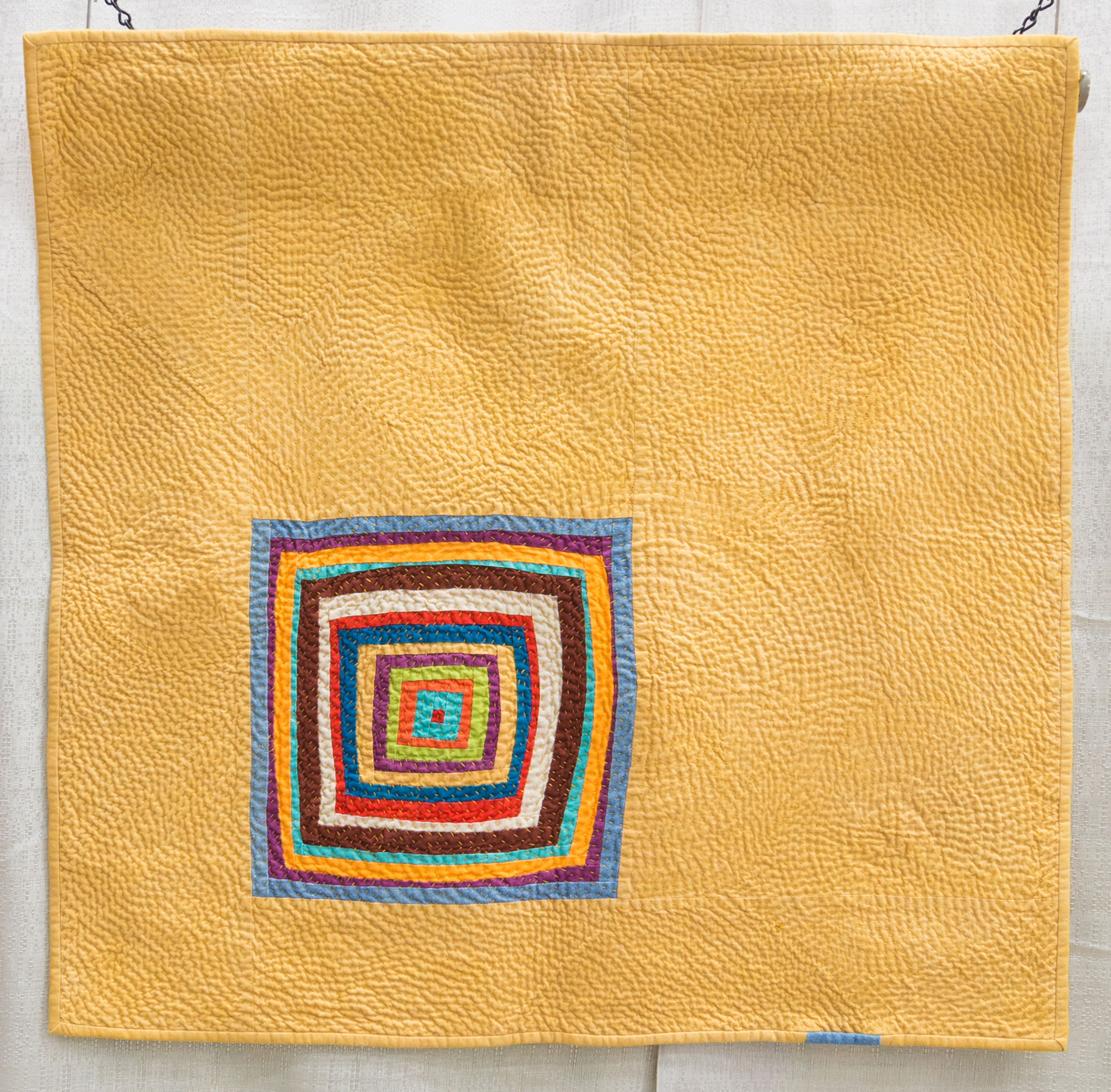 """2nd Place: In Wedowee  25"""" x 25"""" Pieced & Quilted by Chawne Kimber Easton, Pennsylvania Individual MQG Member"""