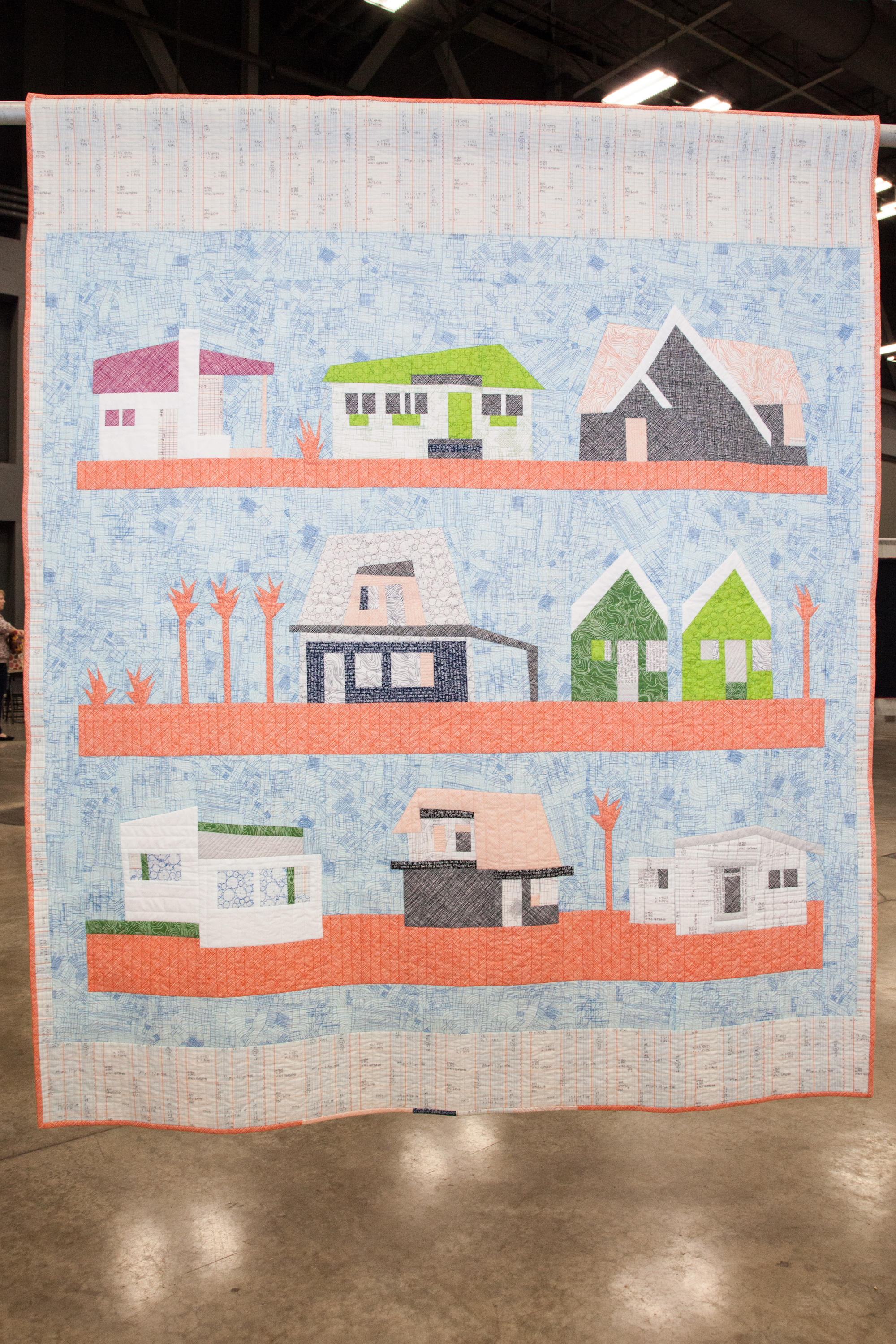 "The Local Quilt  46"" x 60"" Pieced and quilted by Carolyn Friedlander Lake Wales, FL, United States Individual MQG Member"