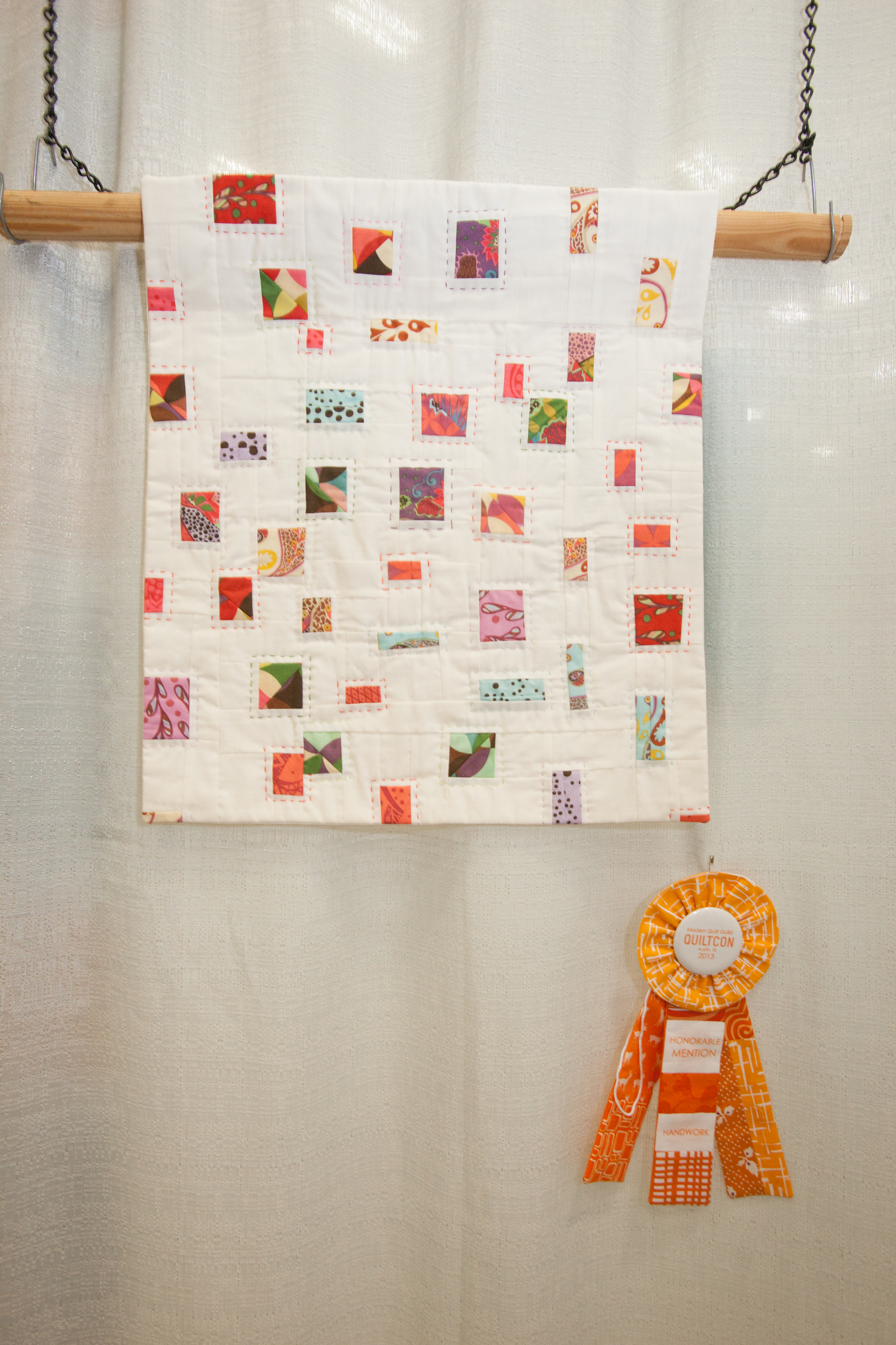 Honorable Mention: Bohemian Confetti  Pieced and quilted by Felicity Ronaghan