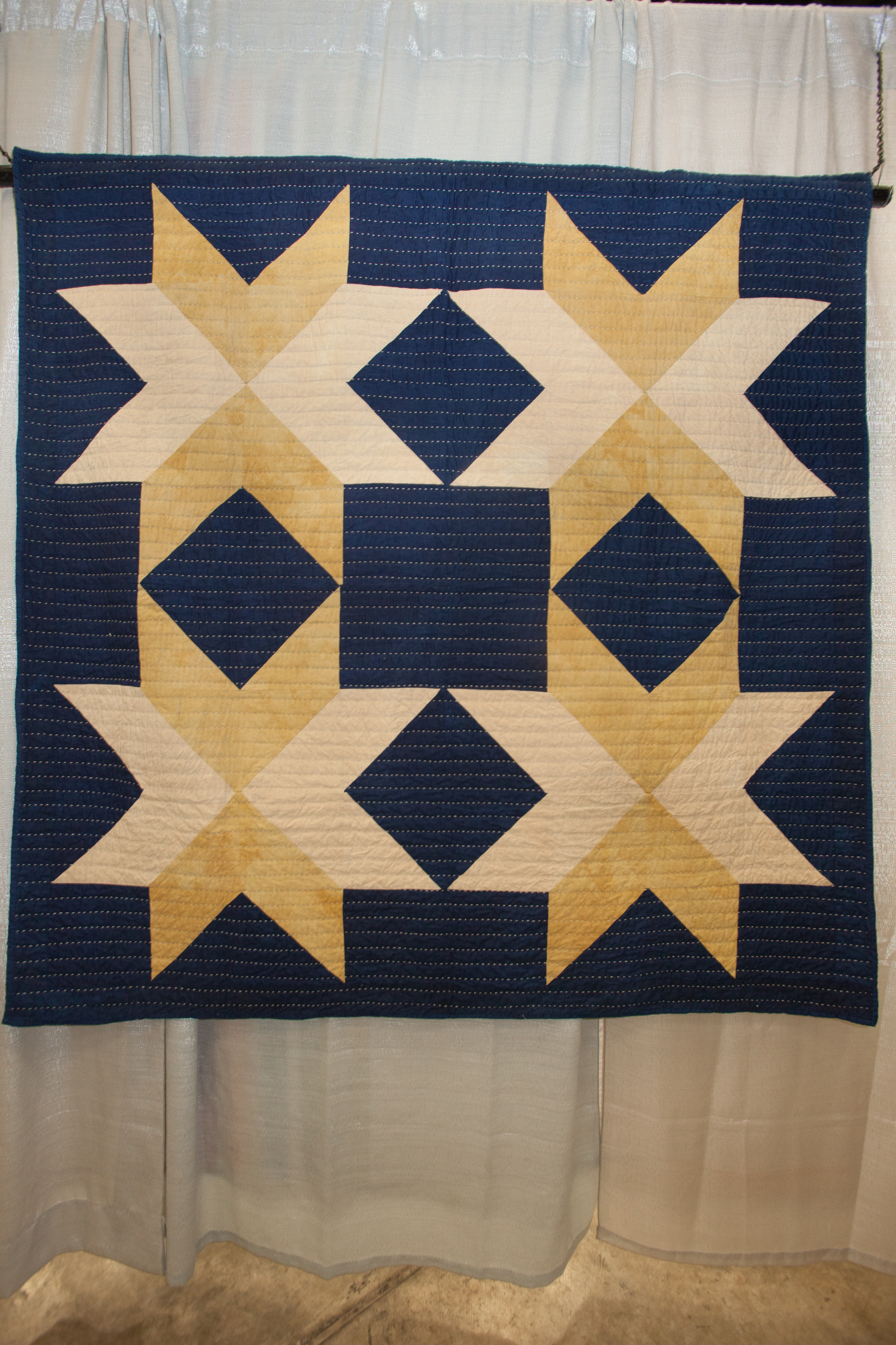 3rd Place: Dark Star  Pieced and quilted by Maura G. Ambrose