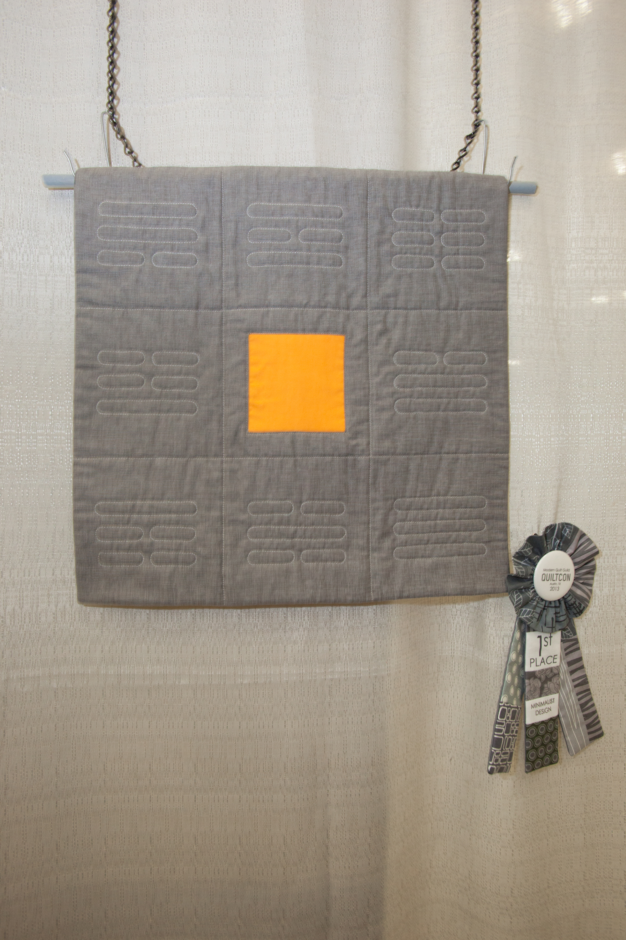 1st Place: Pa Kua  Pieced and quilted by Donna Morales-Oemig