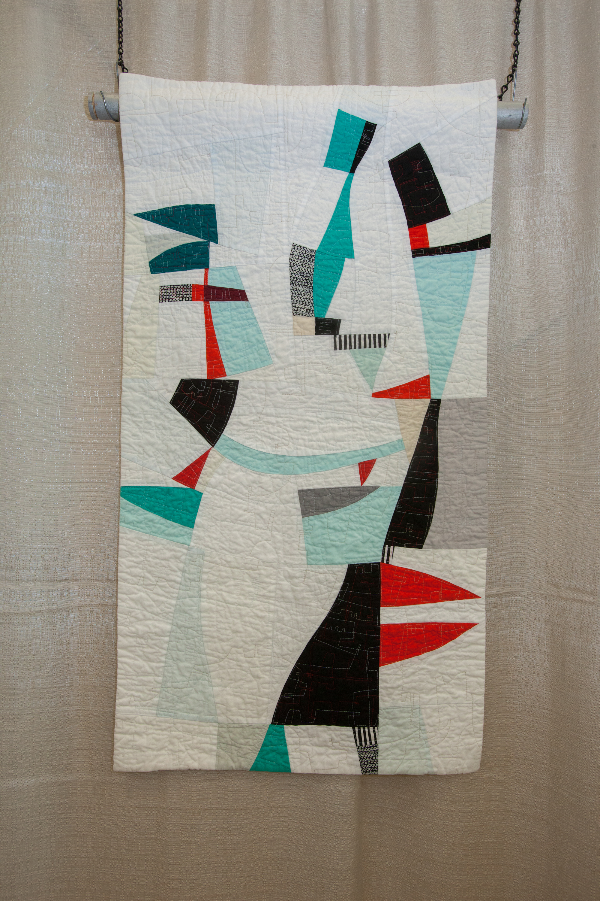 1st Place: Mobile  Pieced and quilted by Elizabeth Brandt