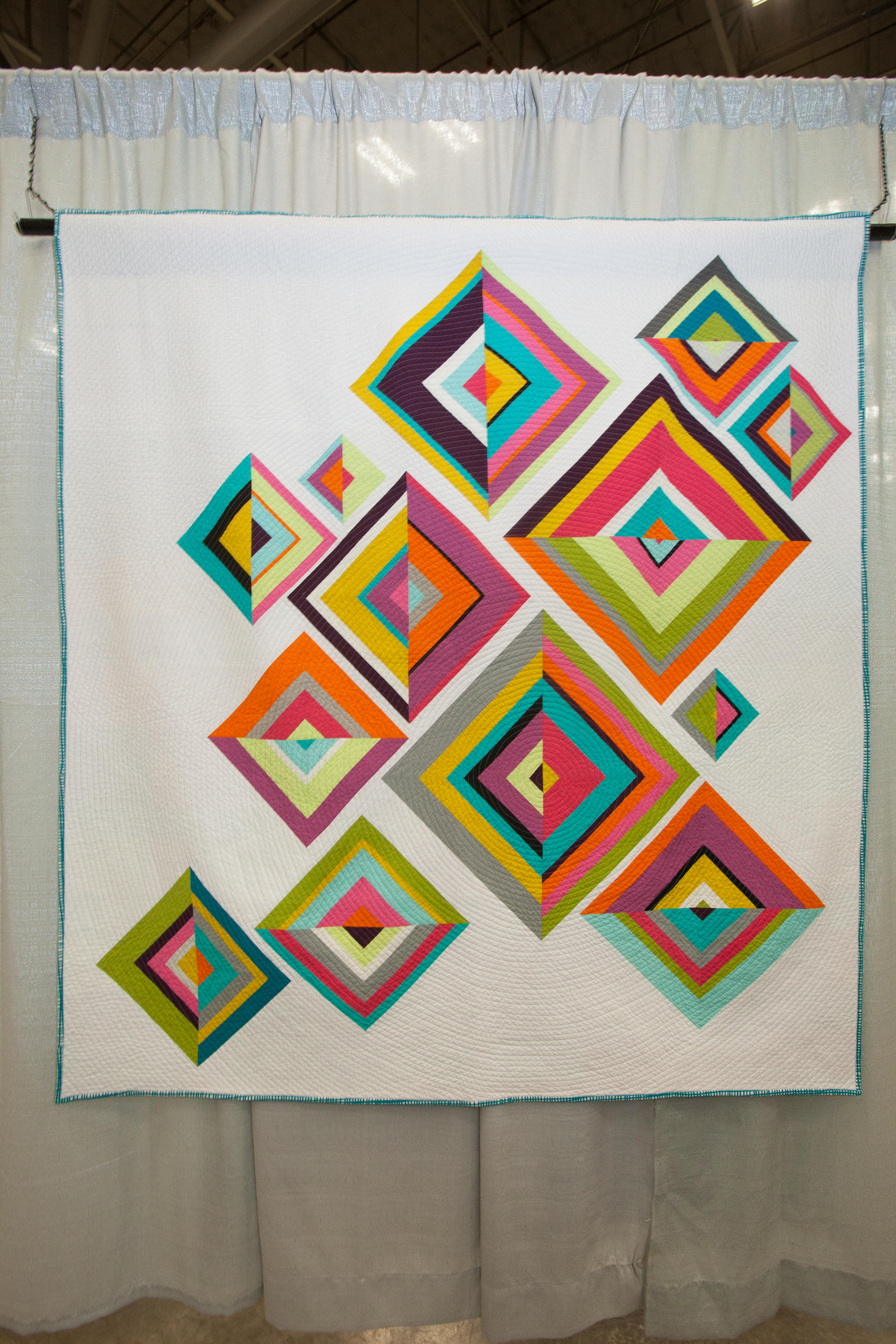 2nd Place: Broken Diamonds  Pieced and quilted by Kati Spencer
