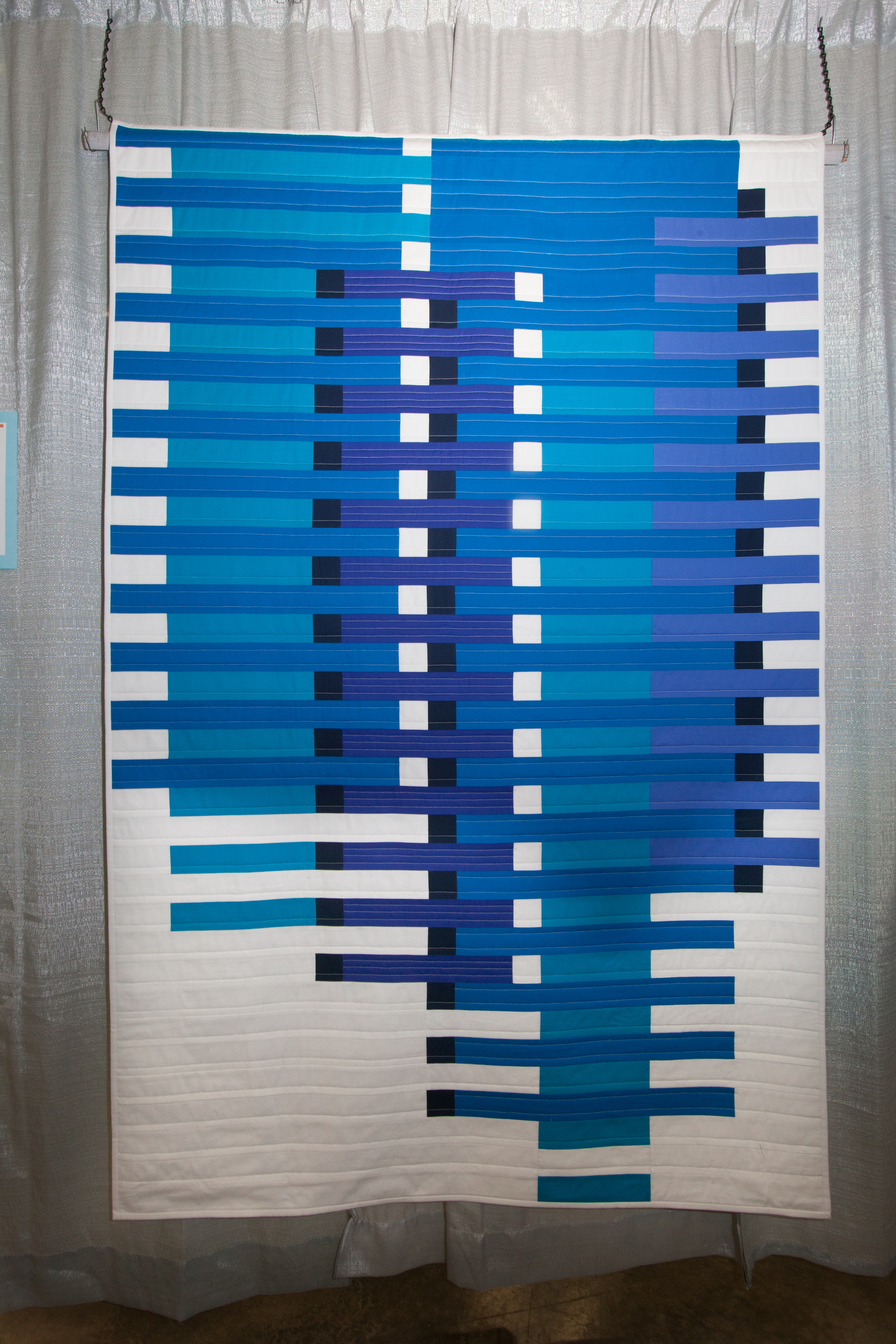 3rd Place: Rhythm & Blues  Pieced and quilted by Anne Deister