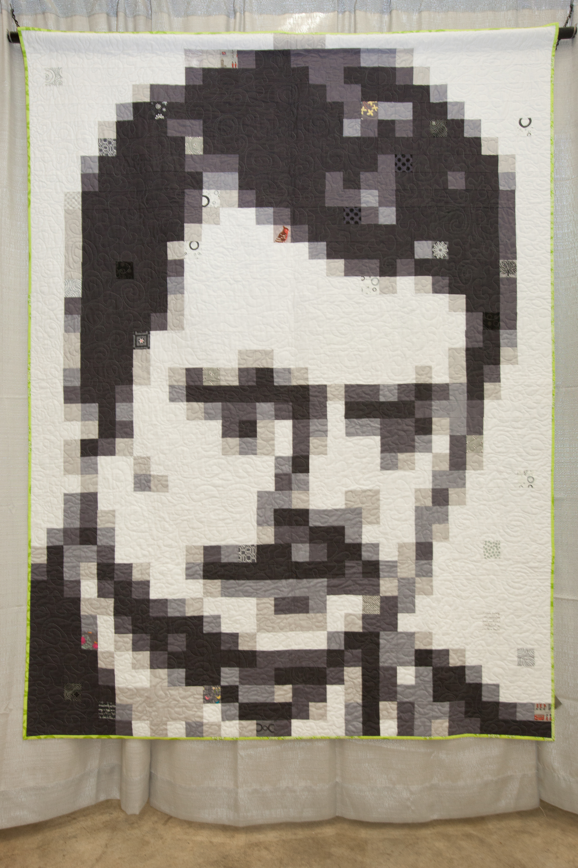1st Place: RonQuilt: The Ron Swanson Quilt  Pieced and quilted by Monica Solorio-Snow