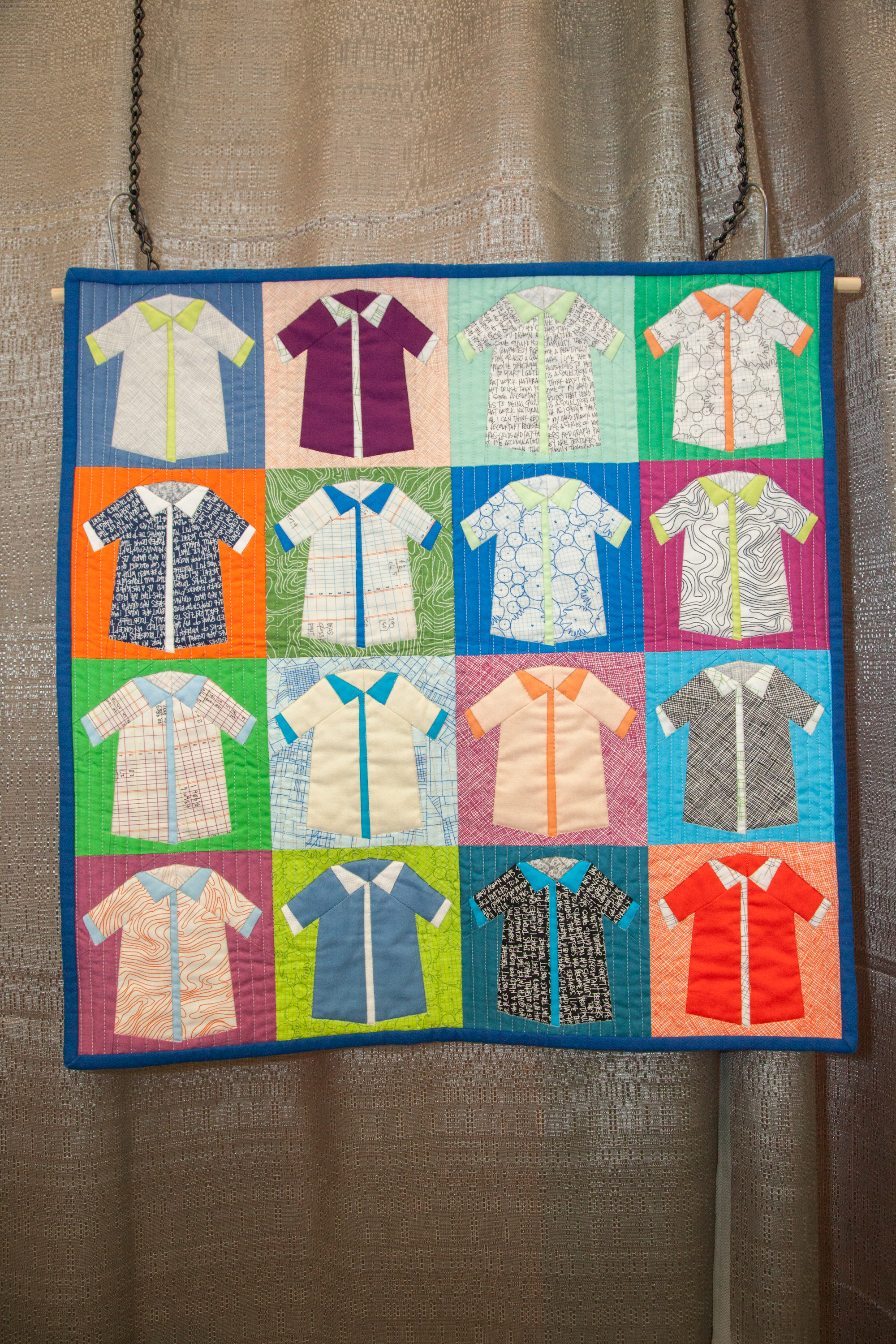 3rd Place: Shirts  Pieced and quilted by Carolyn Friedlander