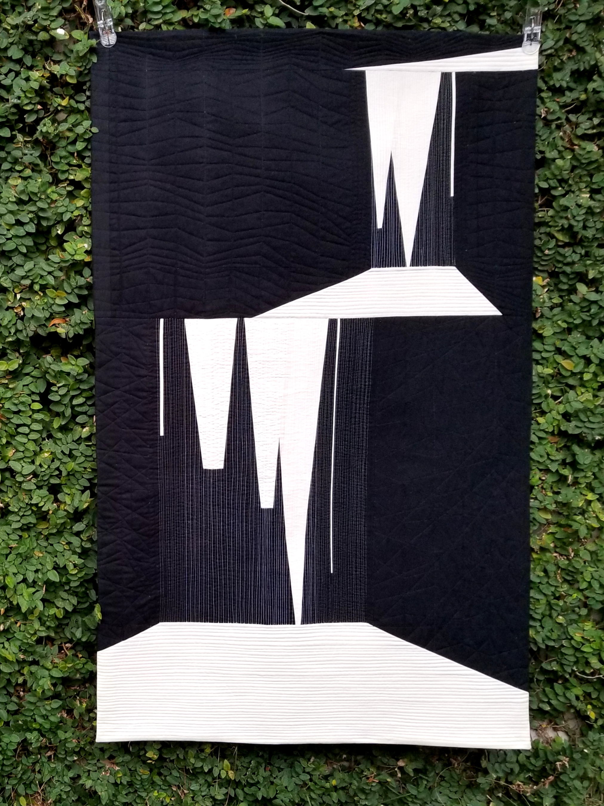 "Waterfall  31.5"" x 50.75"" By Sarah Lauzon Orlando MQG Orlando, Florida @cera.bee"