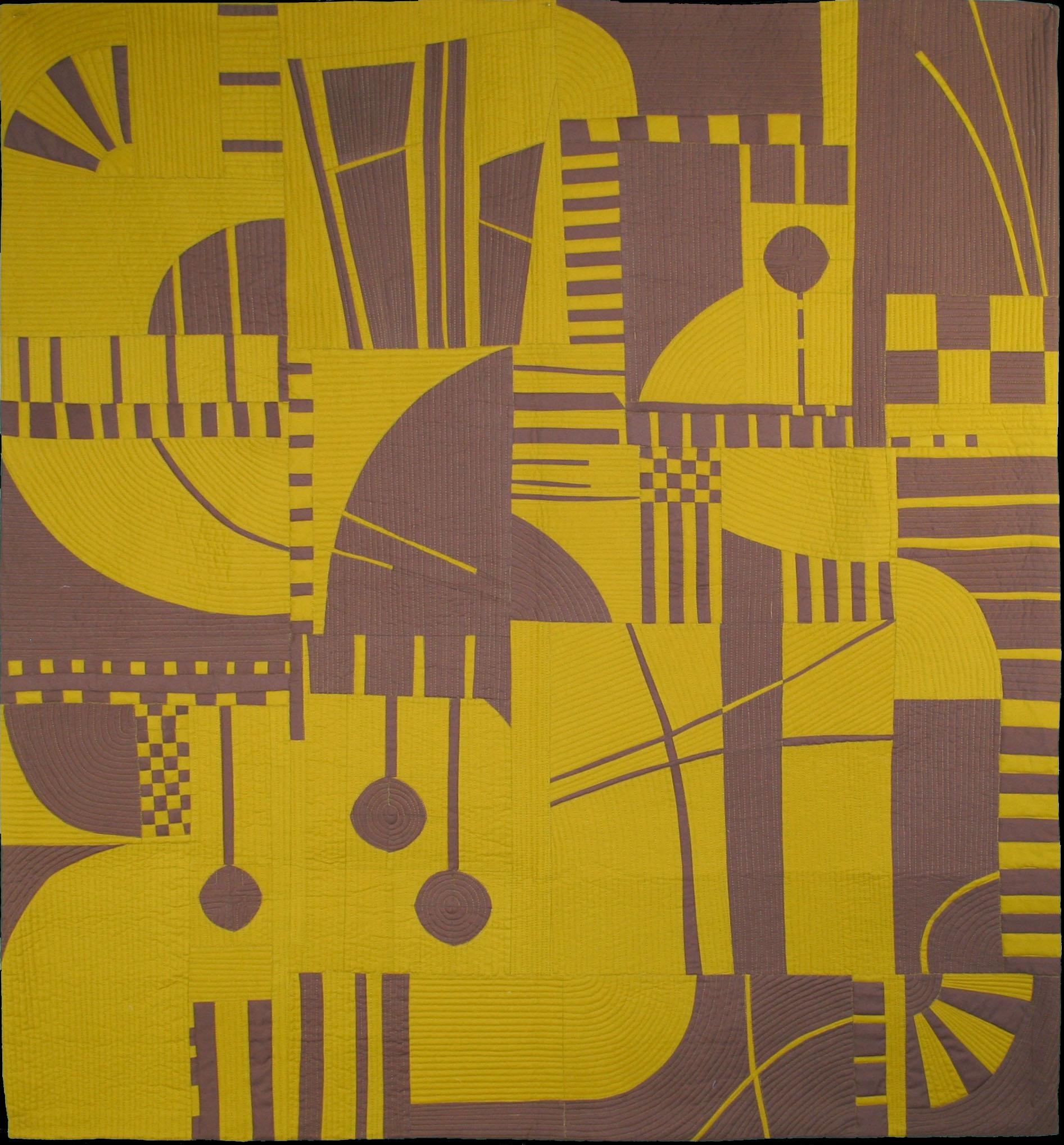 "2nd Place: Woodcut  48"" x 52"" By Irene Roderick Austin MQG Austin, Texas @hixsonir"