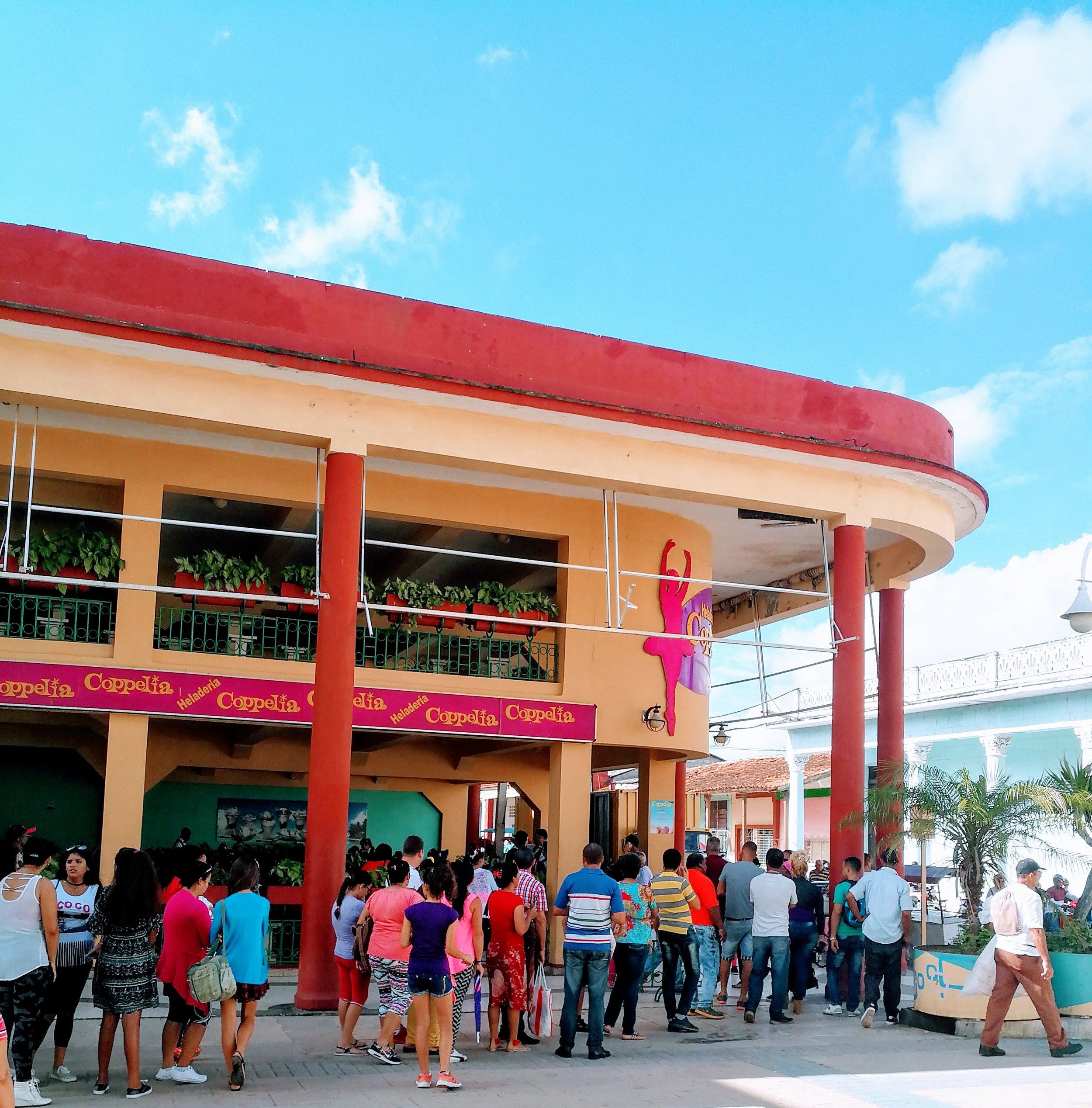 The line outside of La Coppèlia on an average afternoon in Ciego de Avila, Cuba.