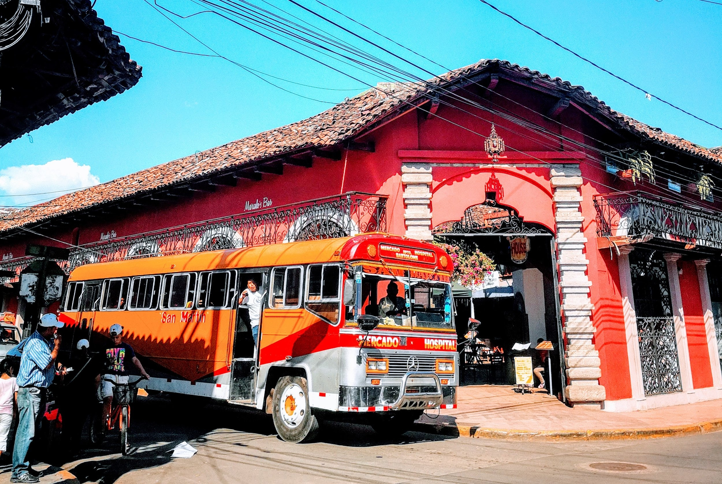 Take the Chicken Bus - Popular with locals and tourists, these colorfully decorated buses transport goods and people acoss Latin American countries.