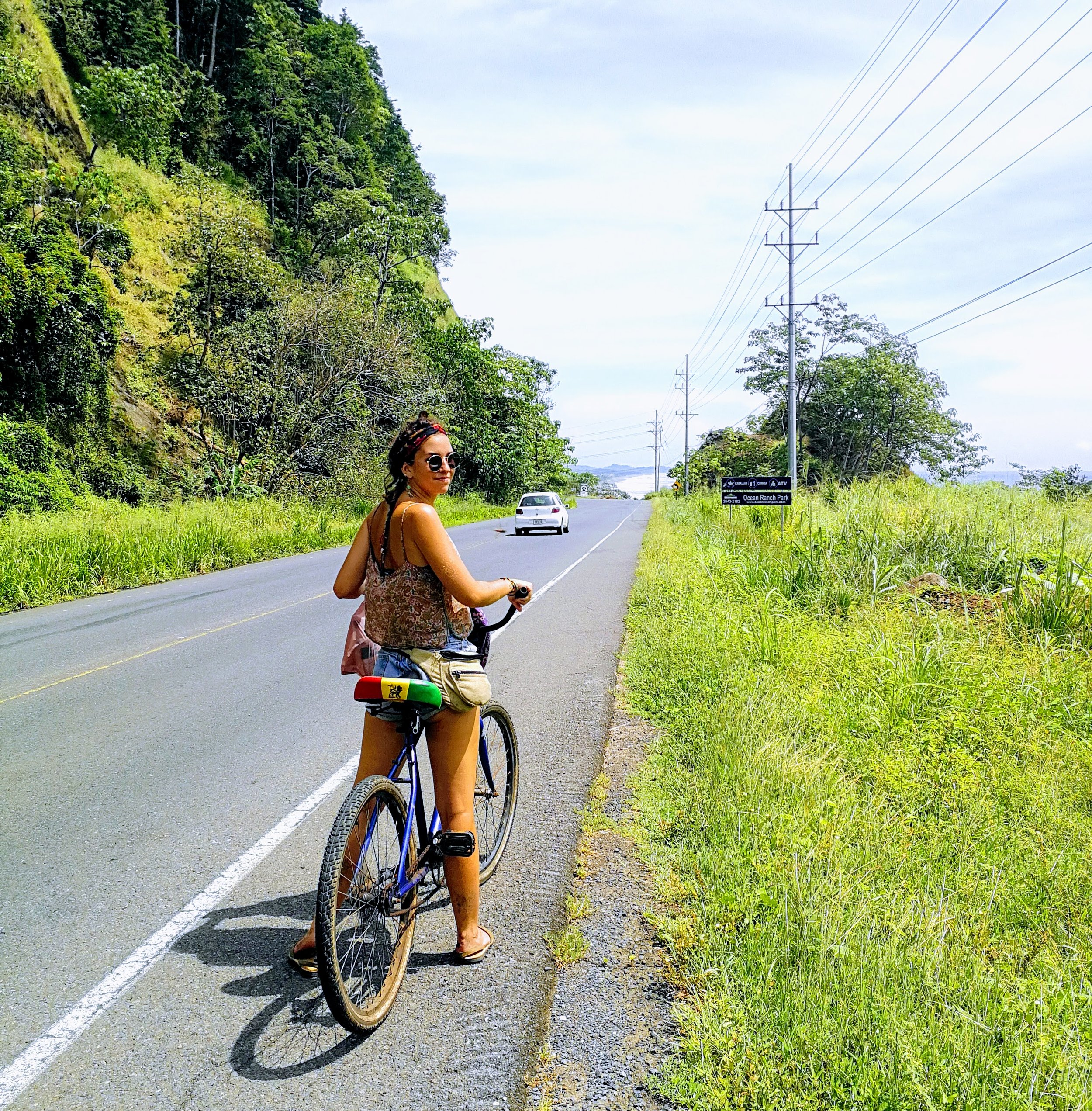 Use eco-friendly forms of transportation once you reach your destination. Riding a bicycle can be the perfect way to get exercise and see a new place. (Photo: Playa Hermosa, Costa Rica)