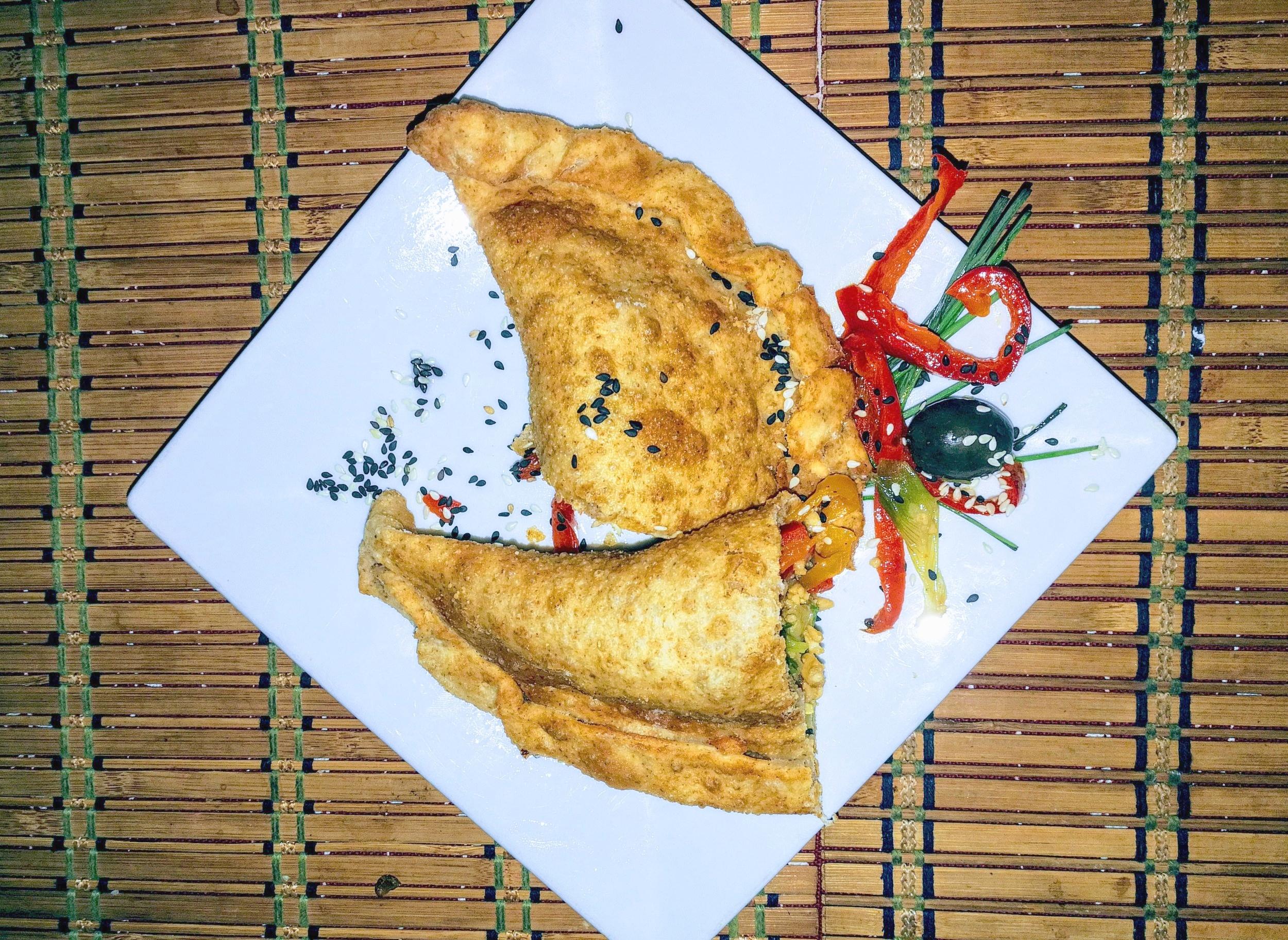 Vegan empanadas at El Chancho Seis in Santiago.
